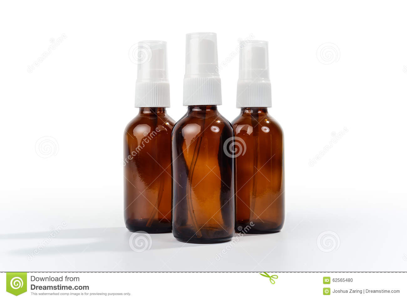 Amber Brown Glass Spray Bottles