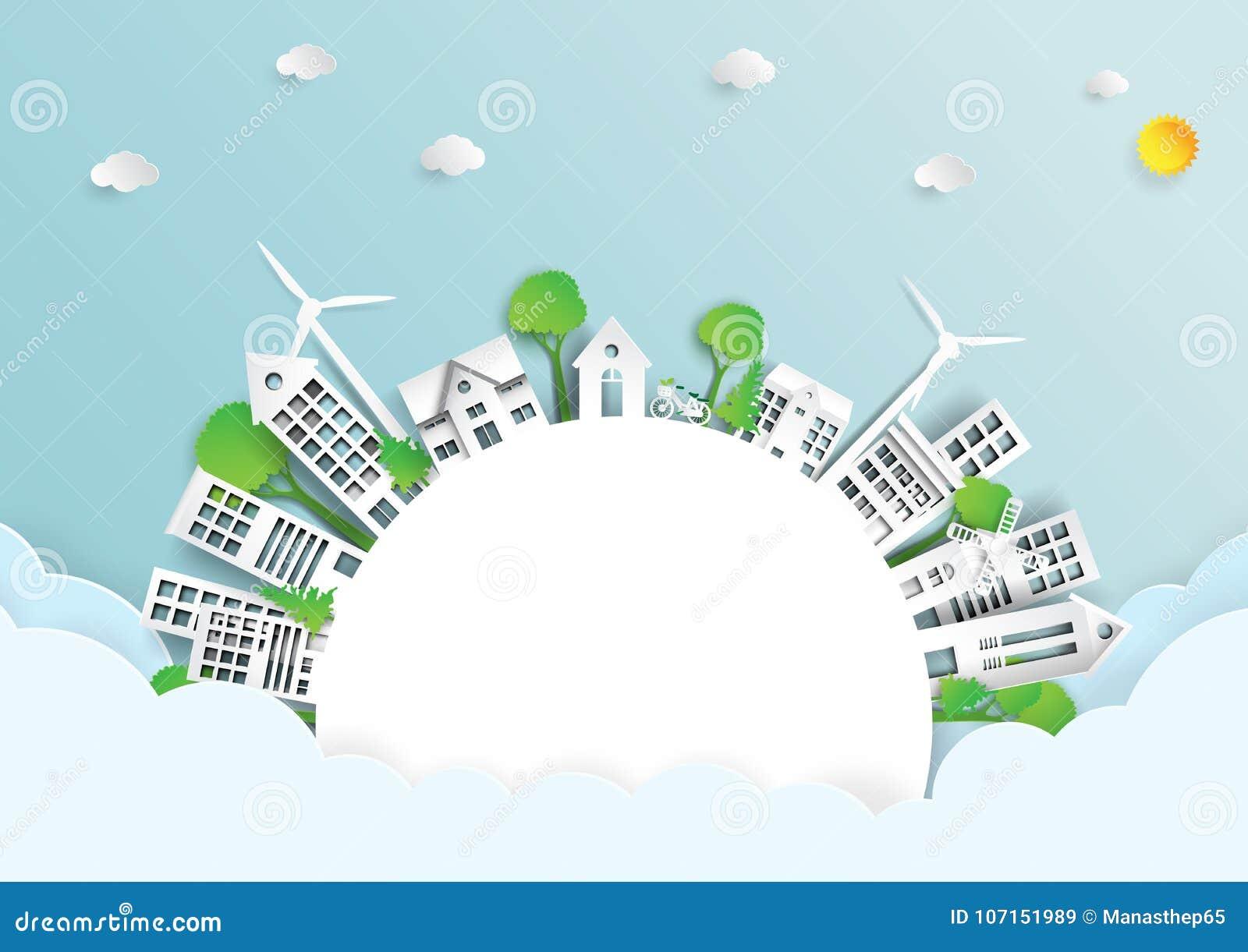 Ambiente amichevole di eco verde
