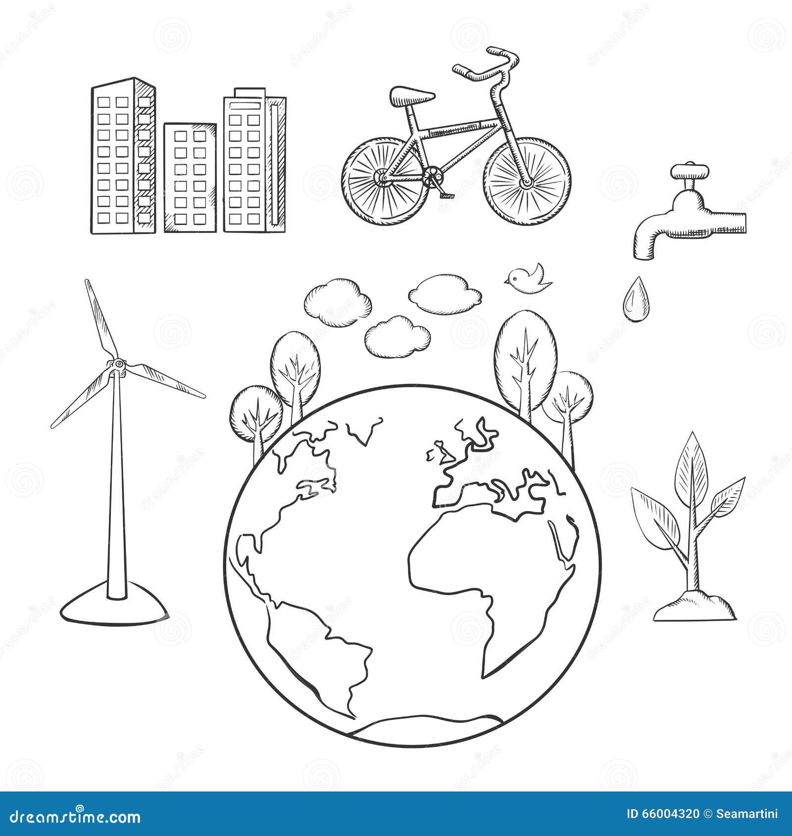 ambiente  energ u00eda verde y bosquejos de la ecolog u00eda
