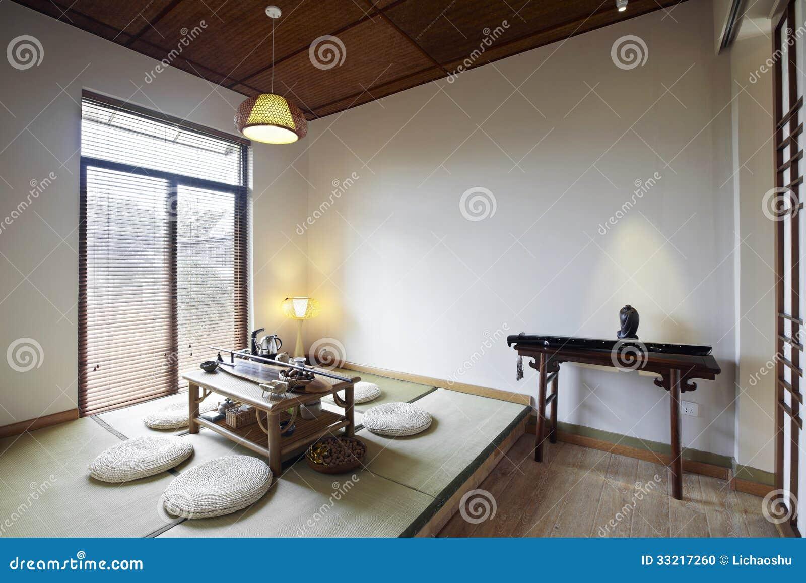 Ambiente interno stile giapponese fotografia stock for Pavimento giapponese
