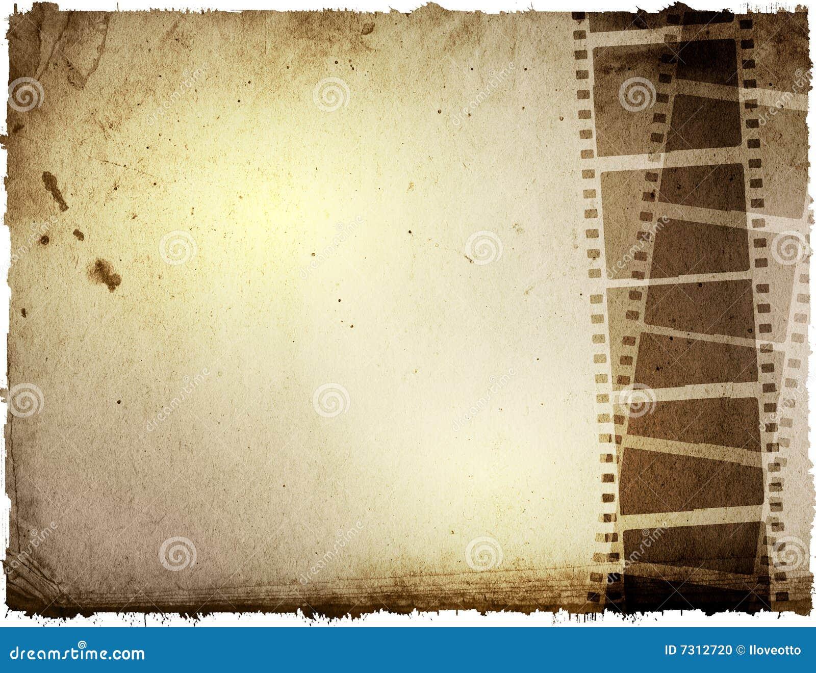 Ambiti di provenienza della striscia della pellicola di Grunge