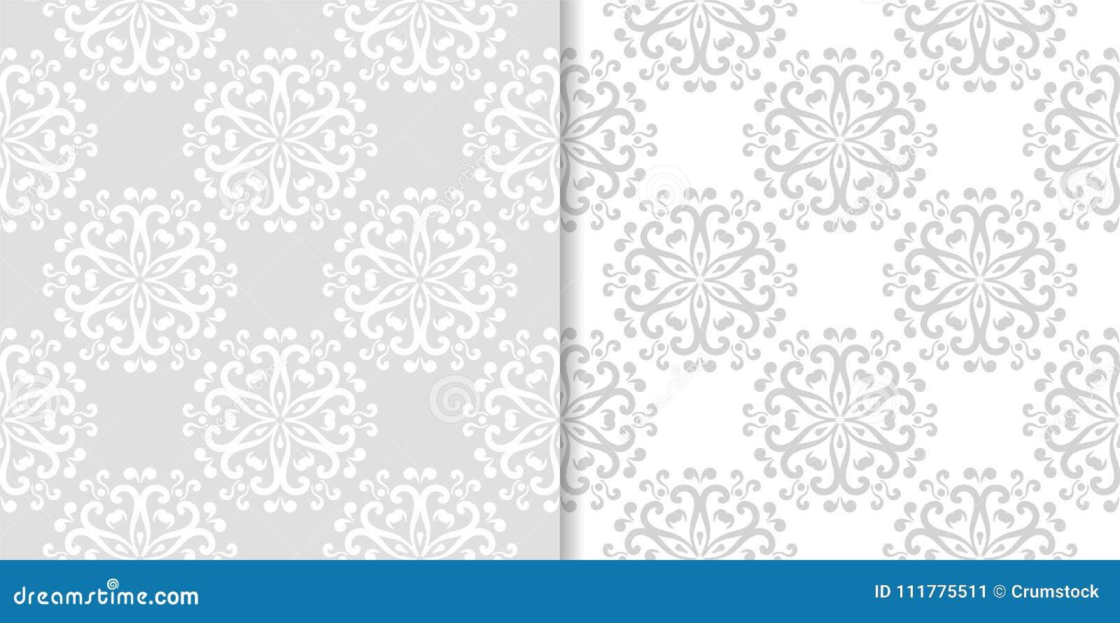 Ambiti di provenienza floreali grigio chiaro Insieme dei reticoli senza giunte