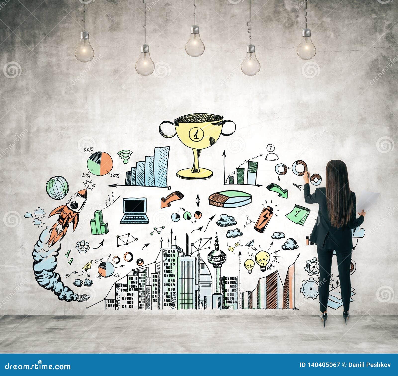 Ambitie en succesconcept