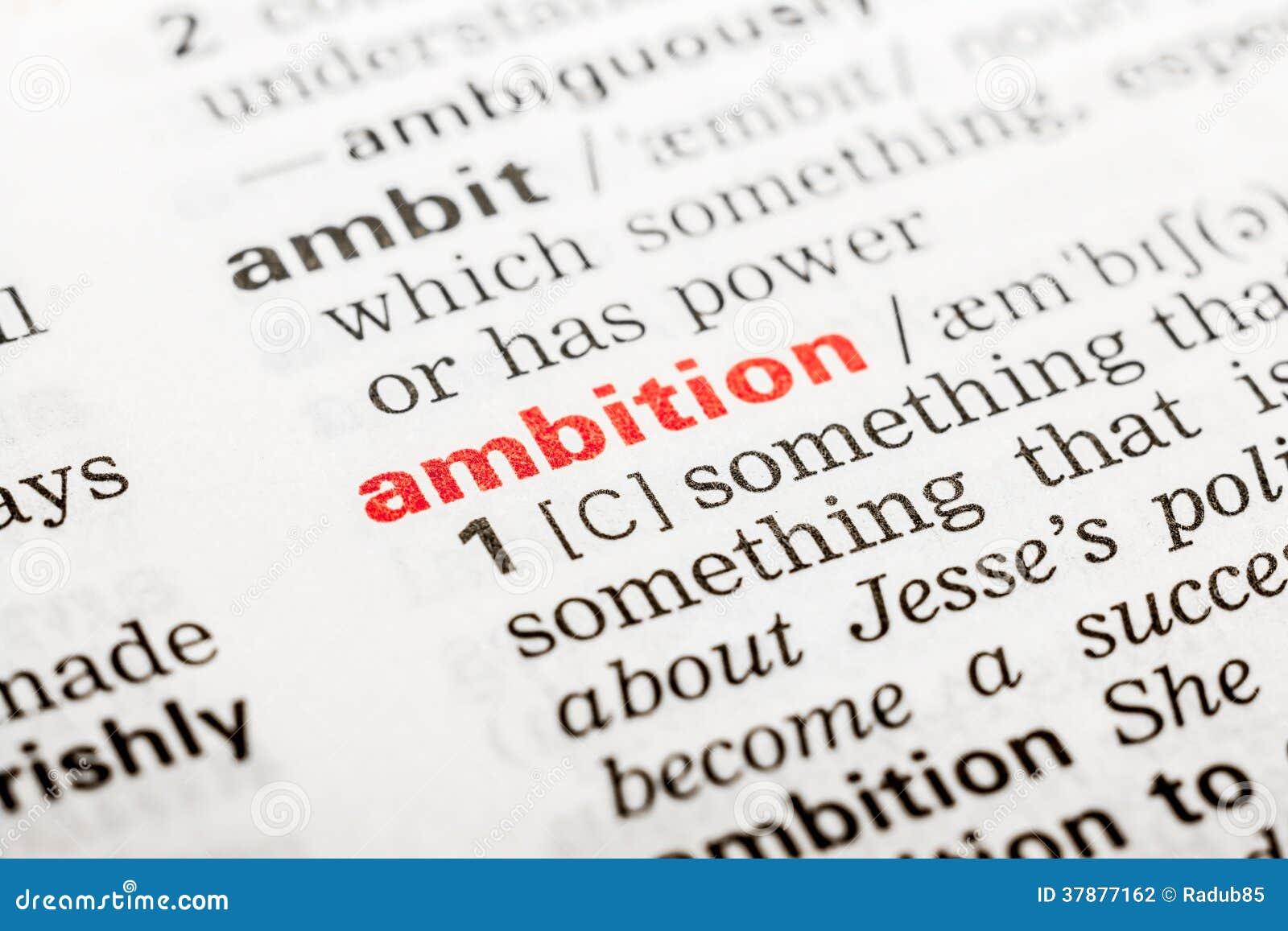 Ambitieword Definitie