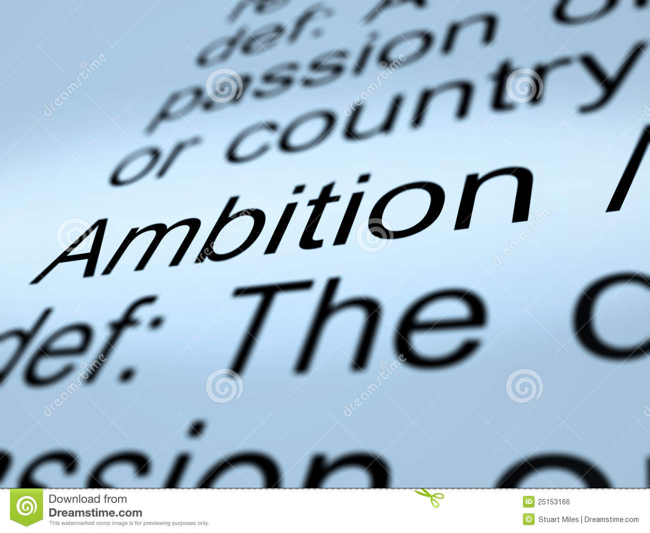 Definition essay on ambitions