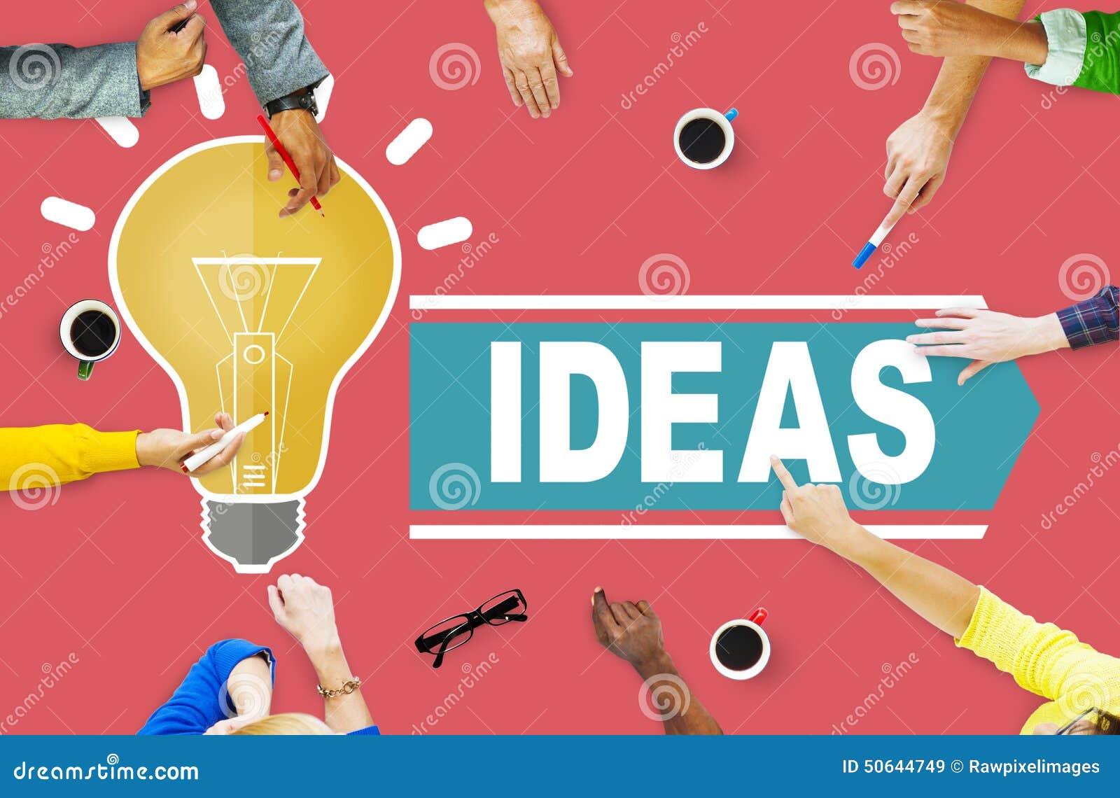 Ambitionidéer som tänker begrepp för innovationvisionstrategi