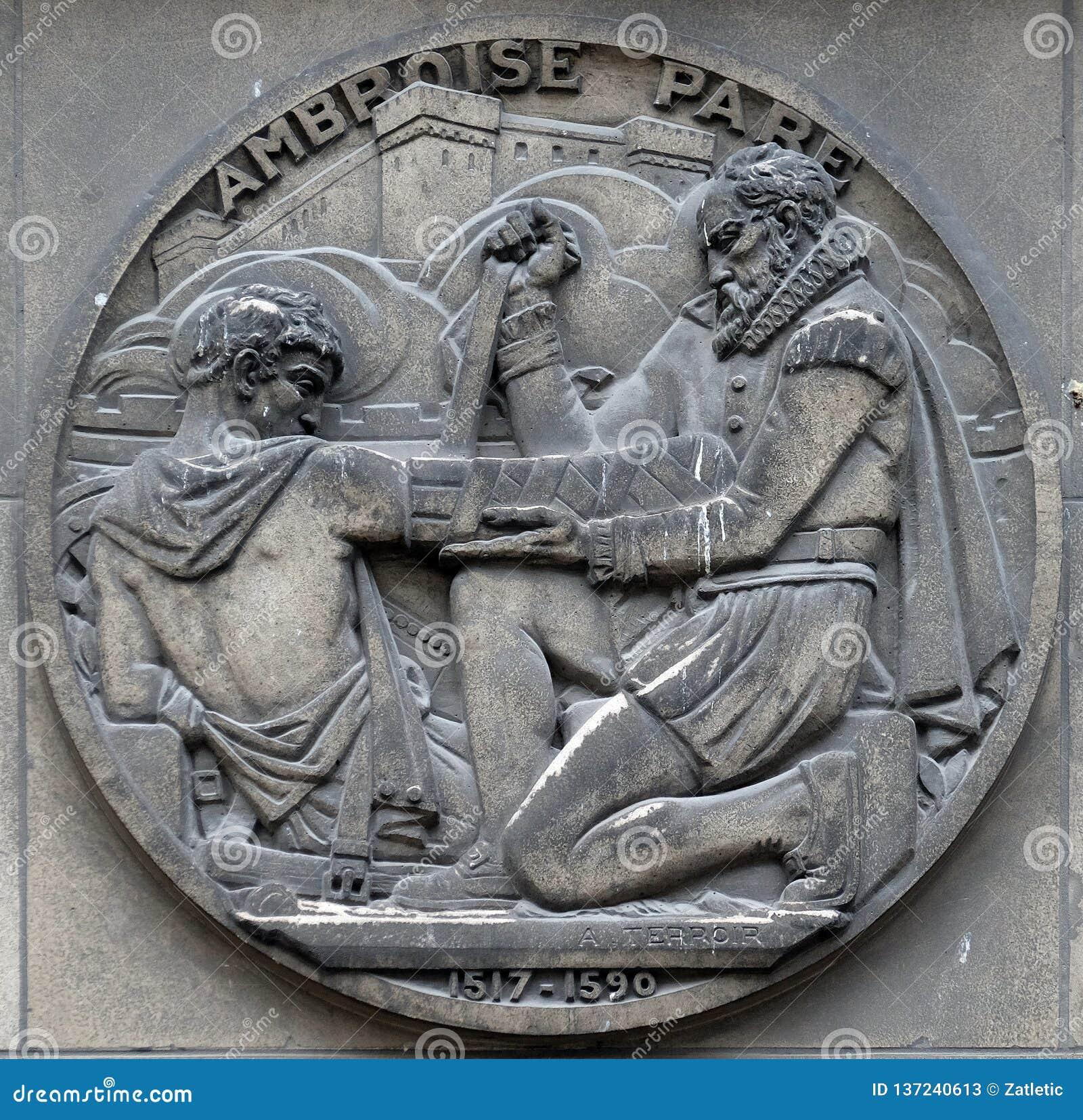 Ambroise Pare, fransk barberarekirurg, f?der av kirurgi och modern r?ttsmedicinsk patologi