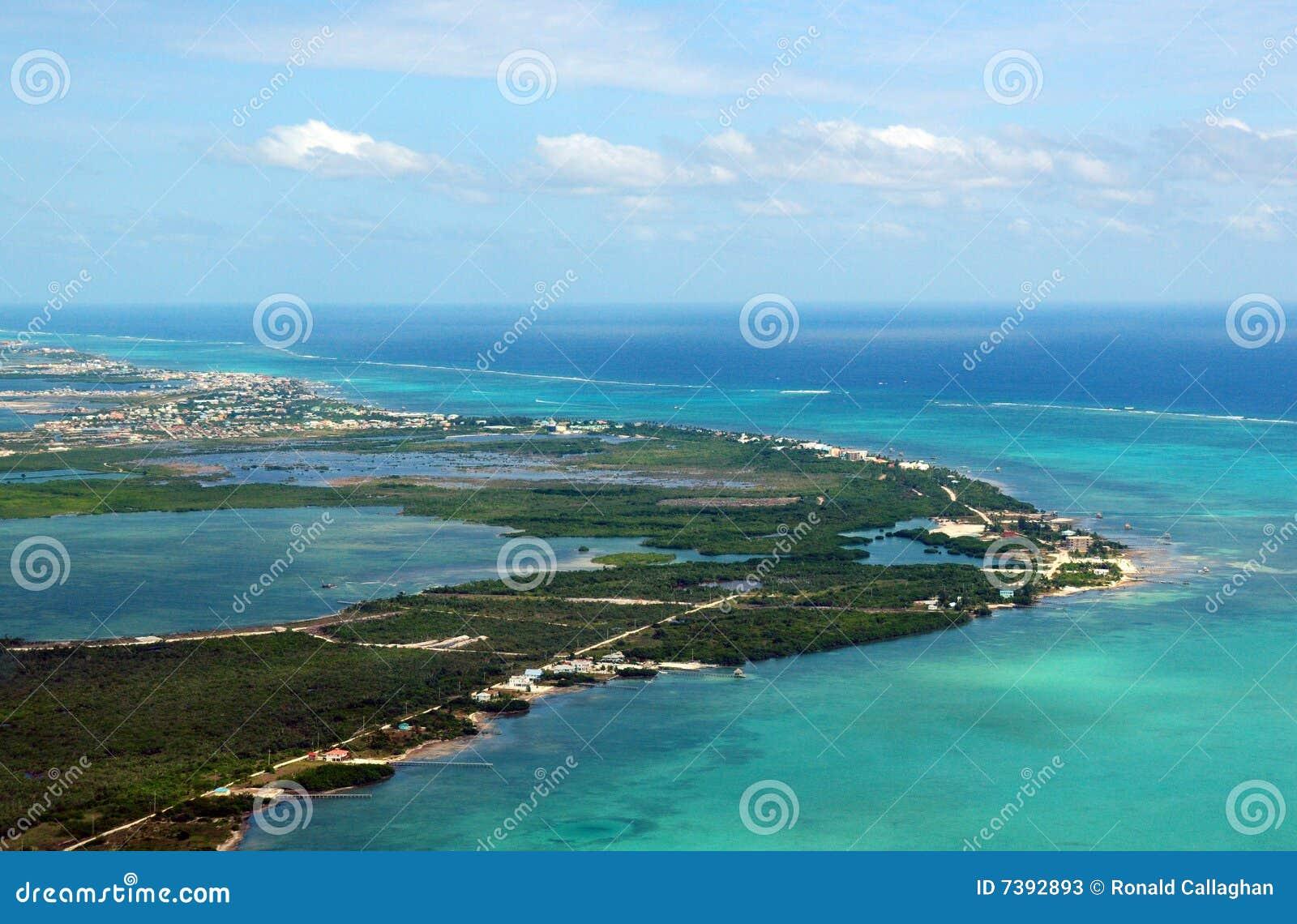 Ambrowa Belize caye wyspa