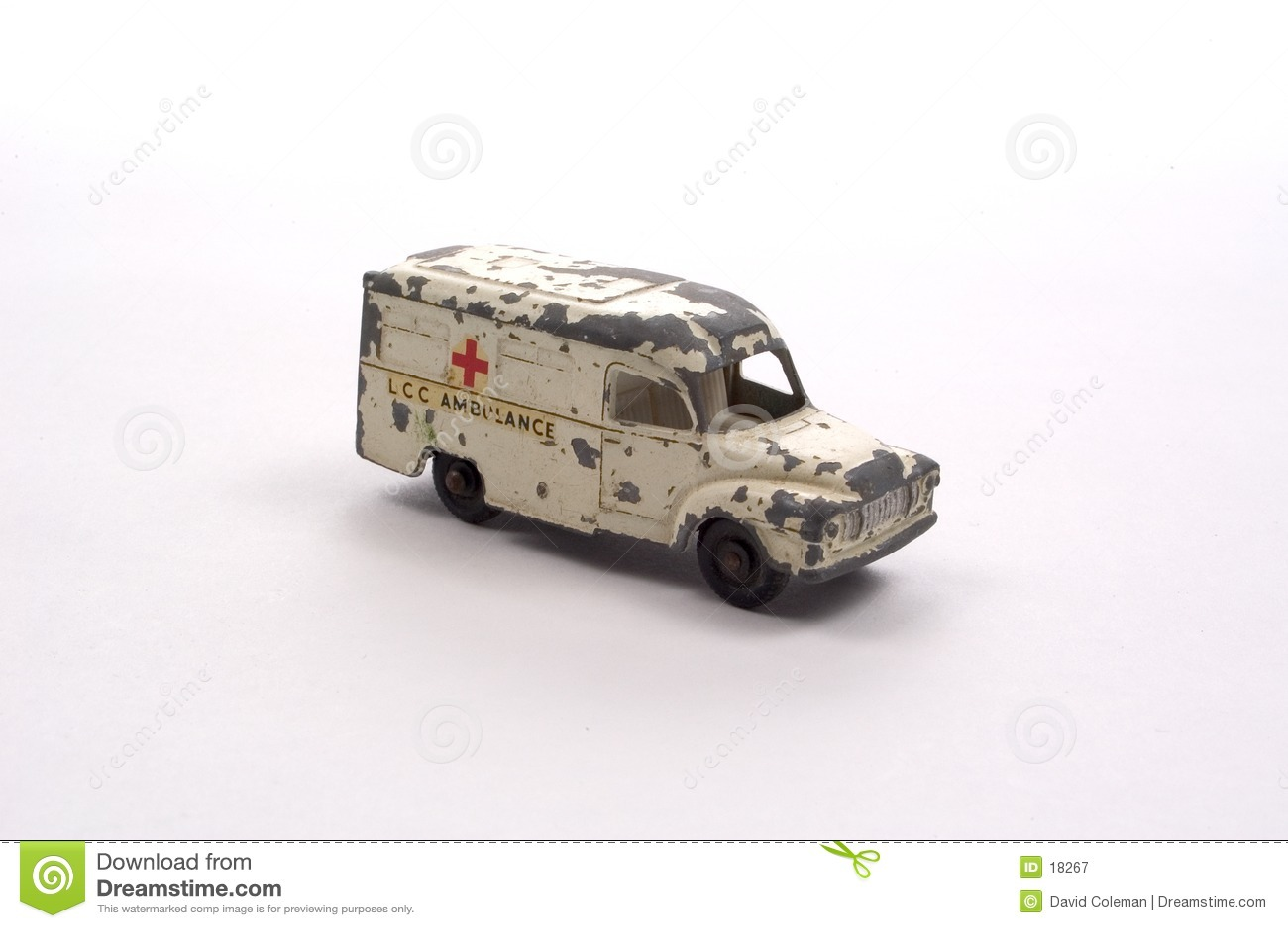 Ambulância antiga do brinquedo