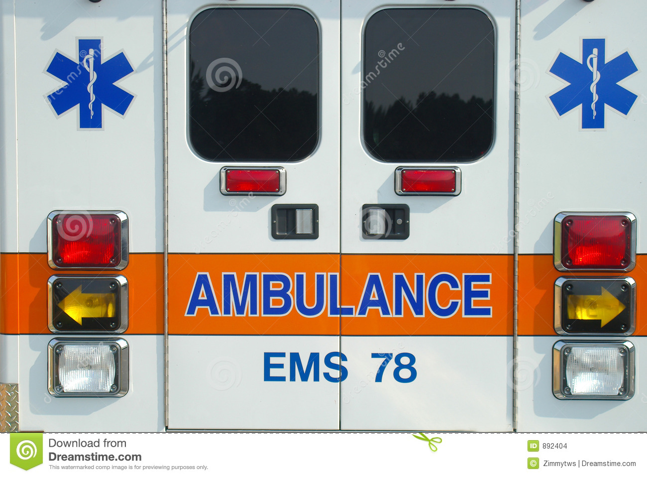 Ambulance Back Stock Images - Image: 892404