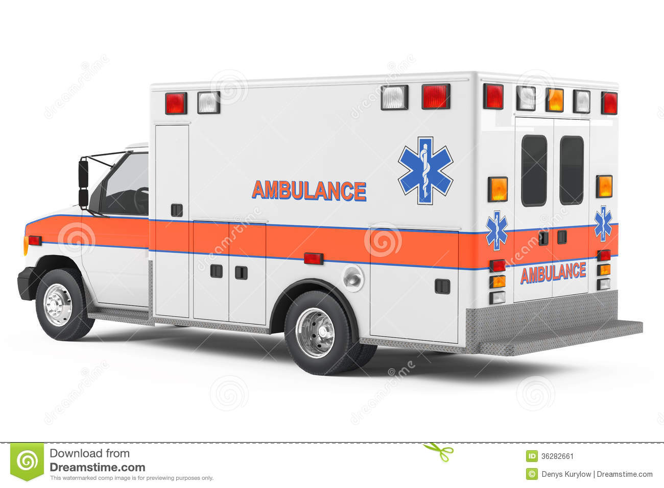 Ambulance Car Back Stock Image - Image: 36282661