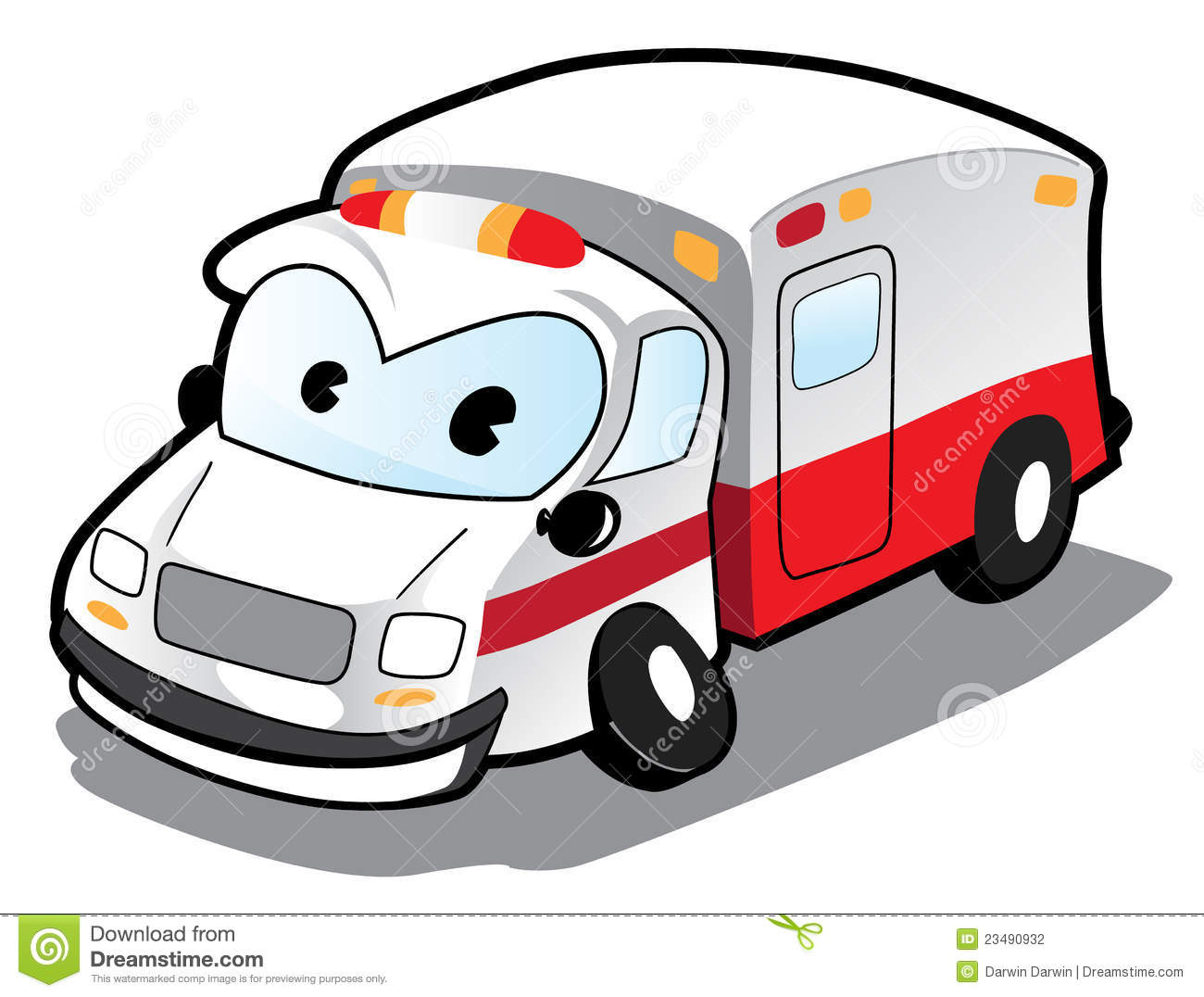 Ambulance de dessin anim illustration de vecteur illustration du h pital 23490932 - Dessin ambulance ...