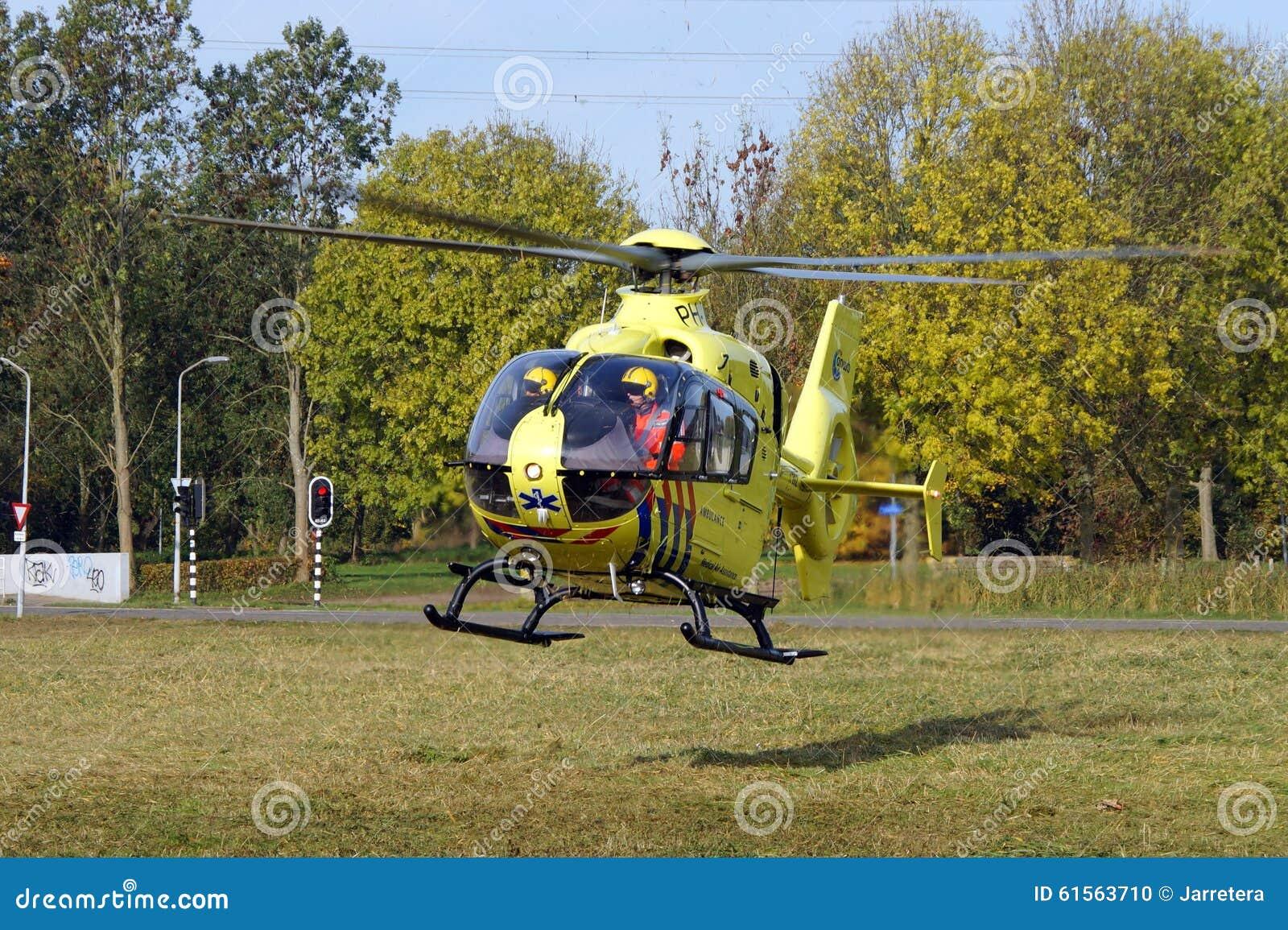 Ambulance Helicopter Dutch Lifeliner 1 Eurocopter Medevac