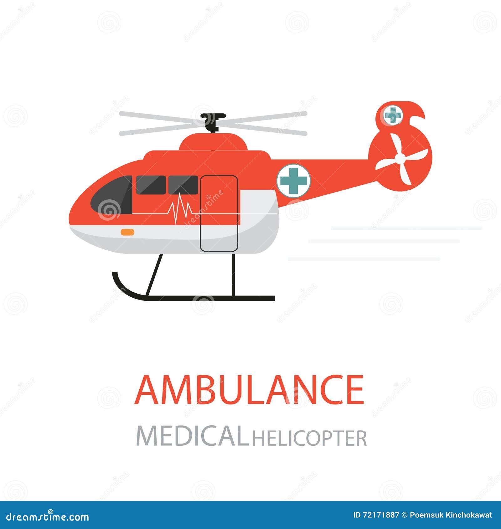 ambulance helicopter emergency service stock
