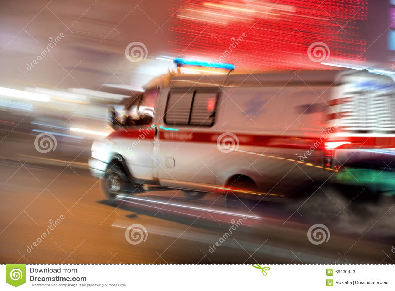 Ambulance in motion