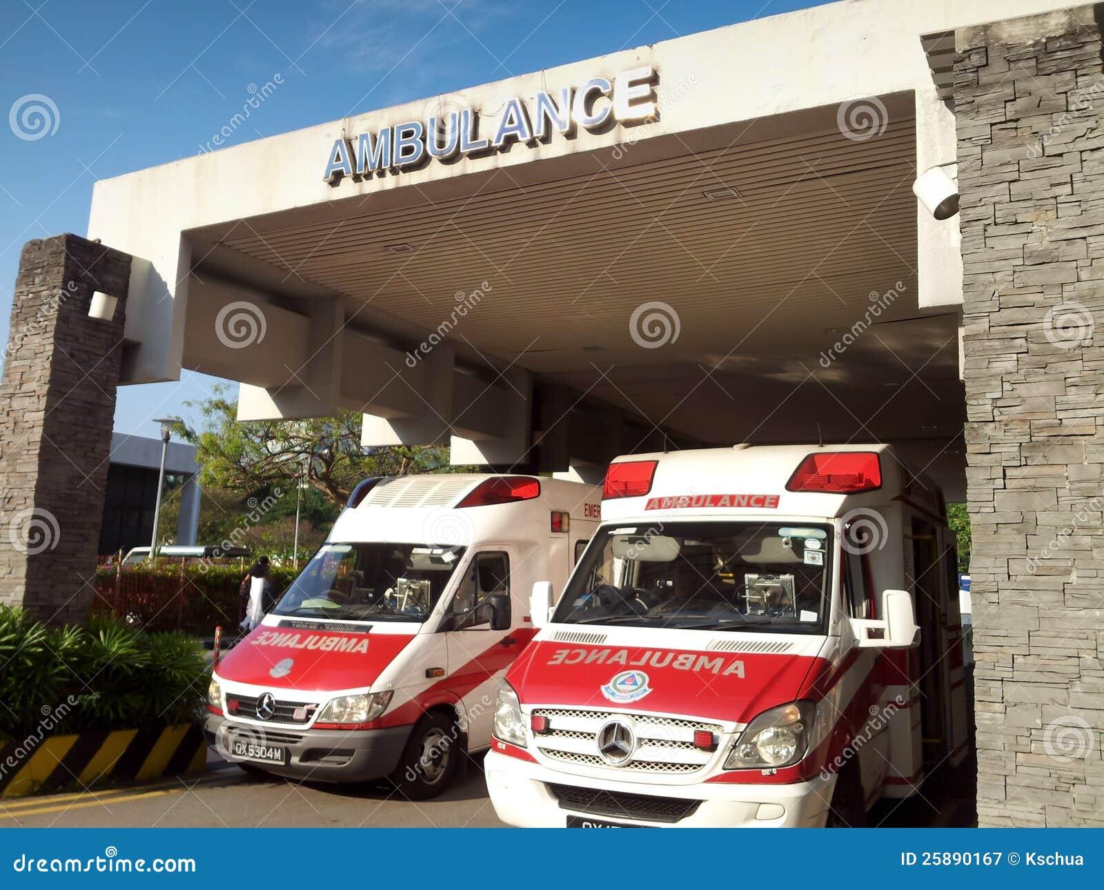 Ambulances on standby