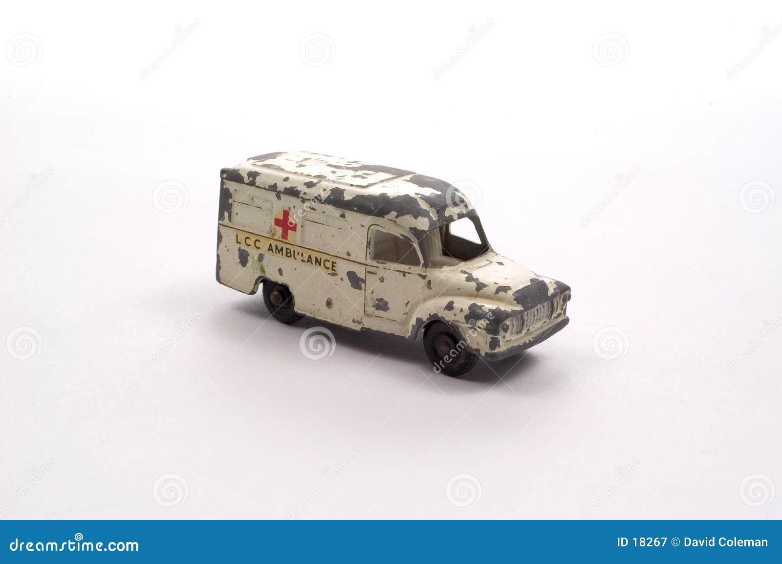 Ambulanza antica del giocattolo