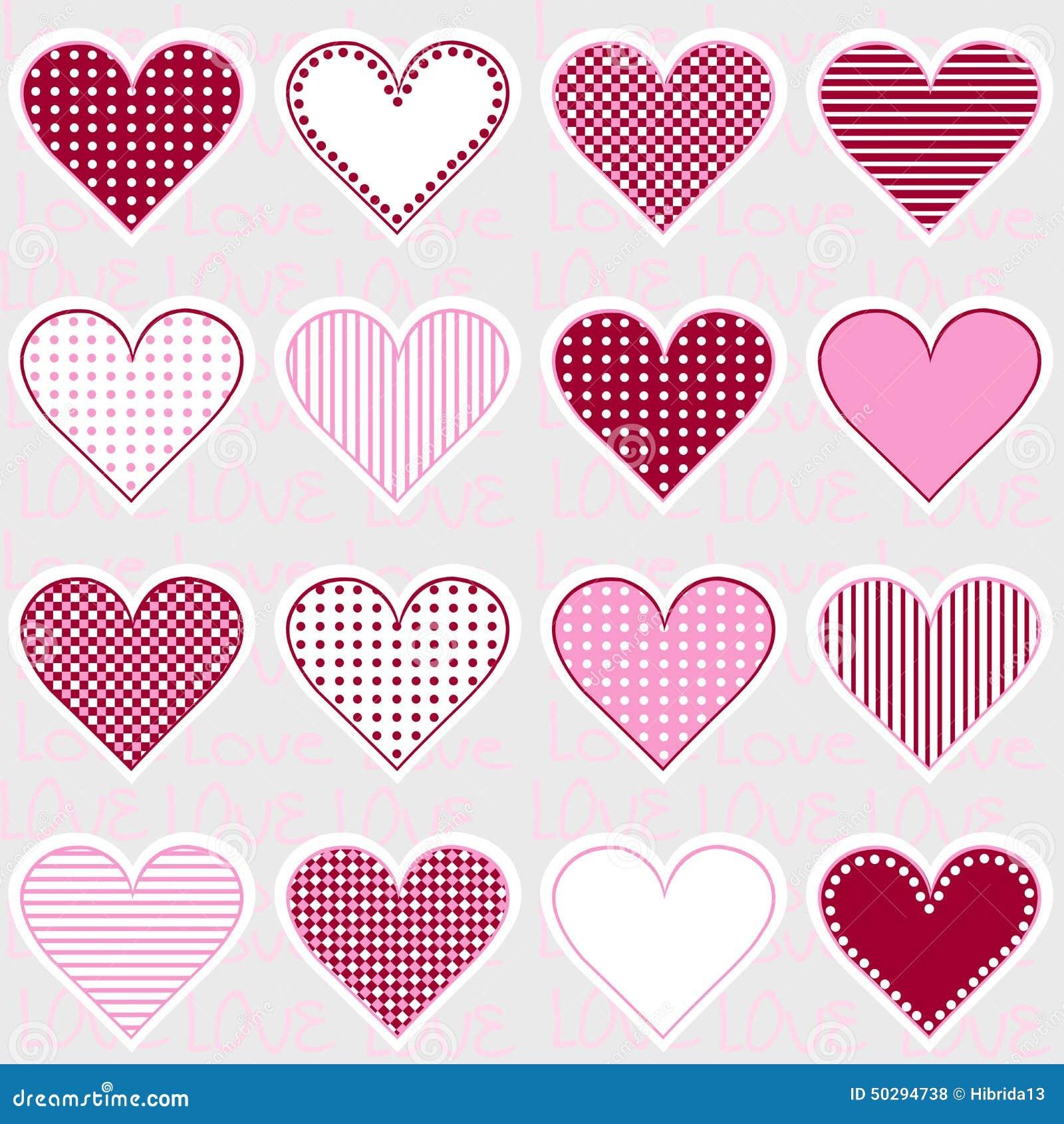 Ame El Fondo Con Los Marcos Del Corazón En El Rosa, Modelo Para El ...
