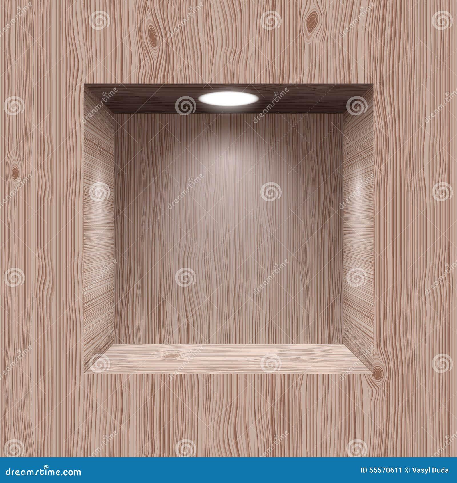 Ameia de madeira para a apresentação