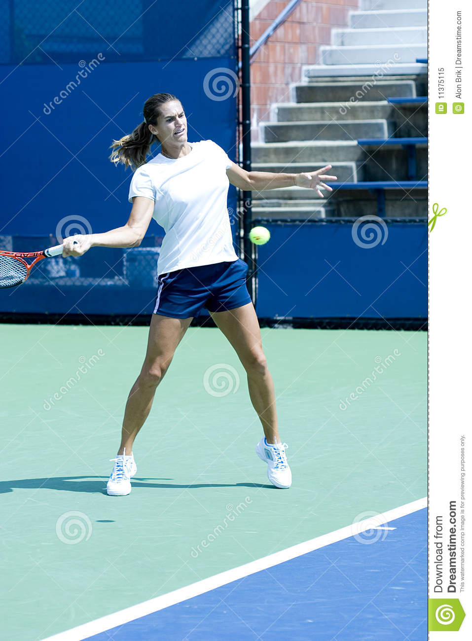 Amelie Mauresmo Practicing Editorial Image Image