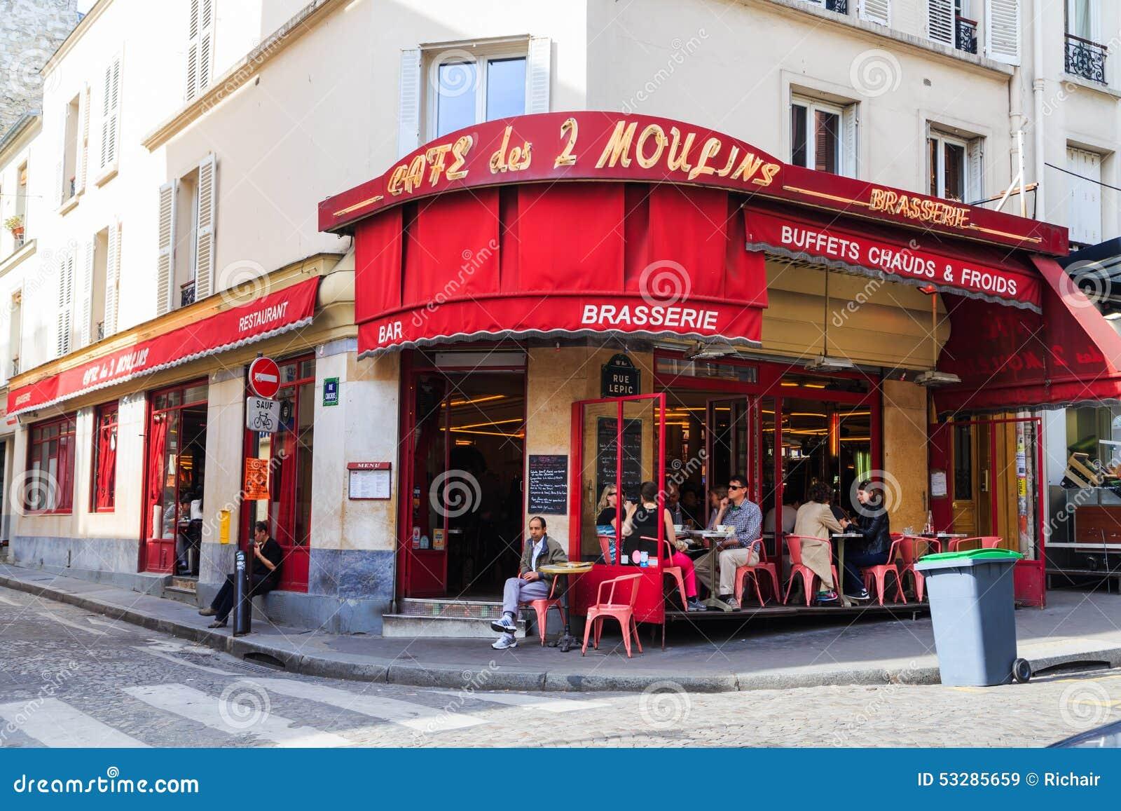 Cafe Amelie Montmartre Paris