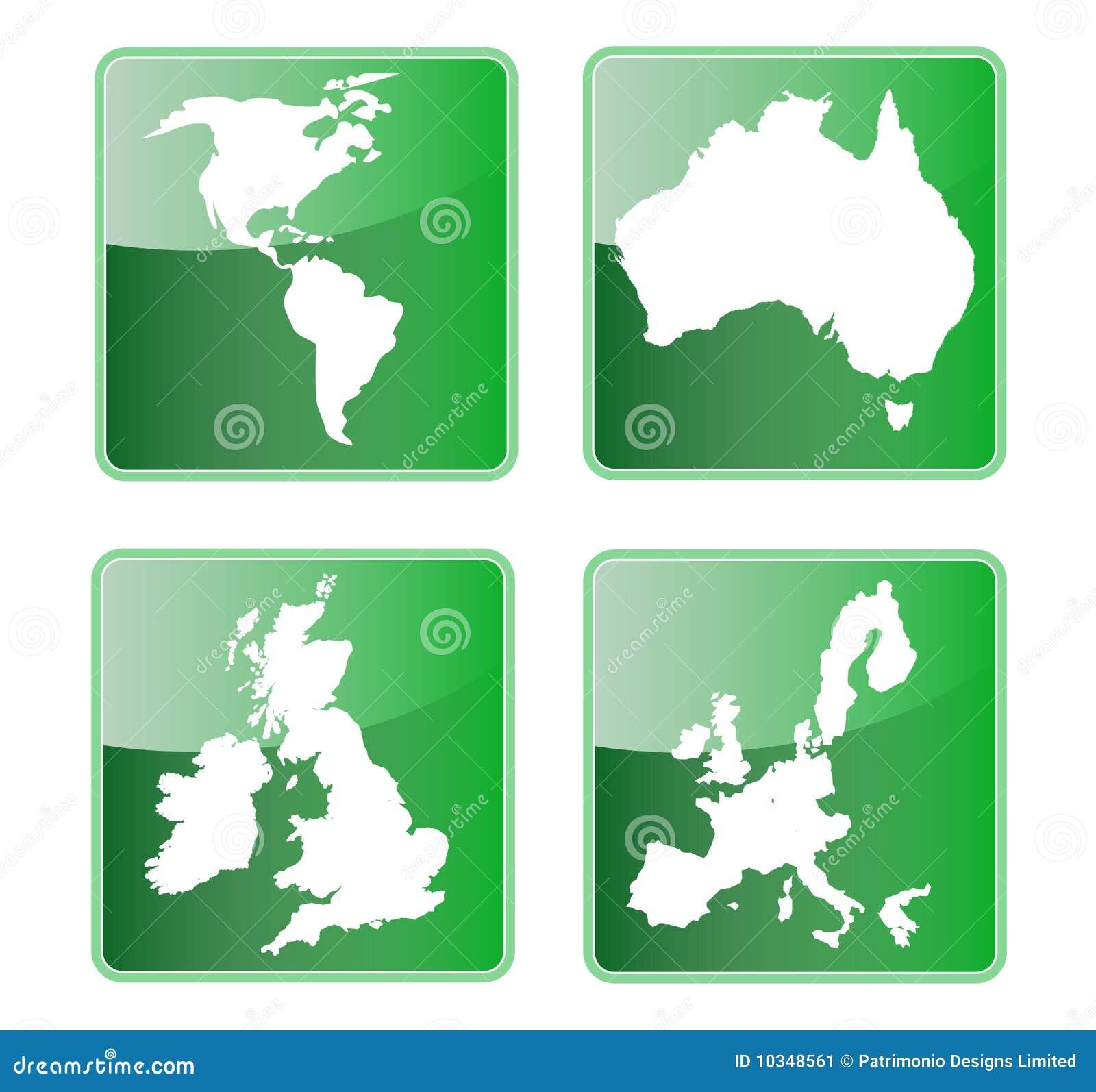 America Australia Britain Europe Stock Illustration Illustration