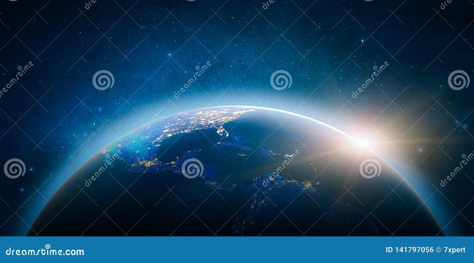 America Central Elementos de esta imagen equipados por la NASA