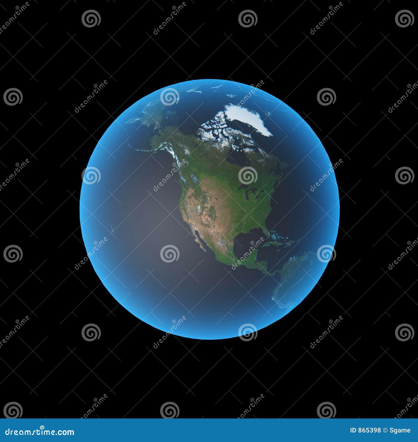 America earth north