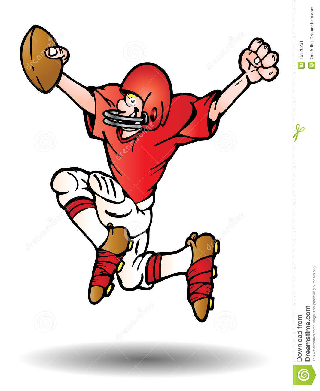 Kids Playing Flag Football Clipart - More information