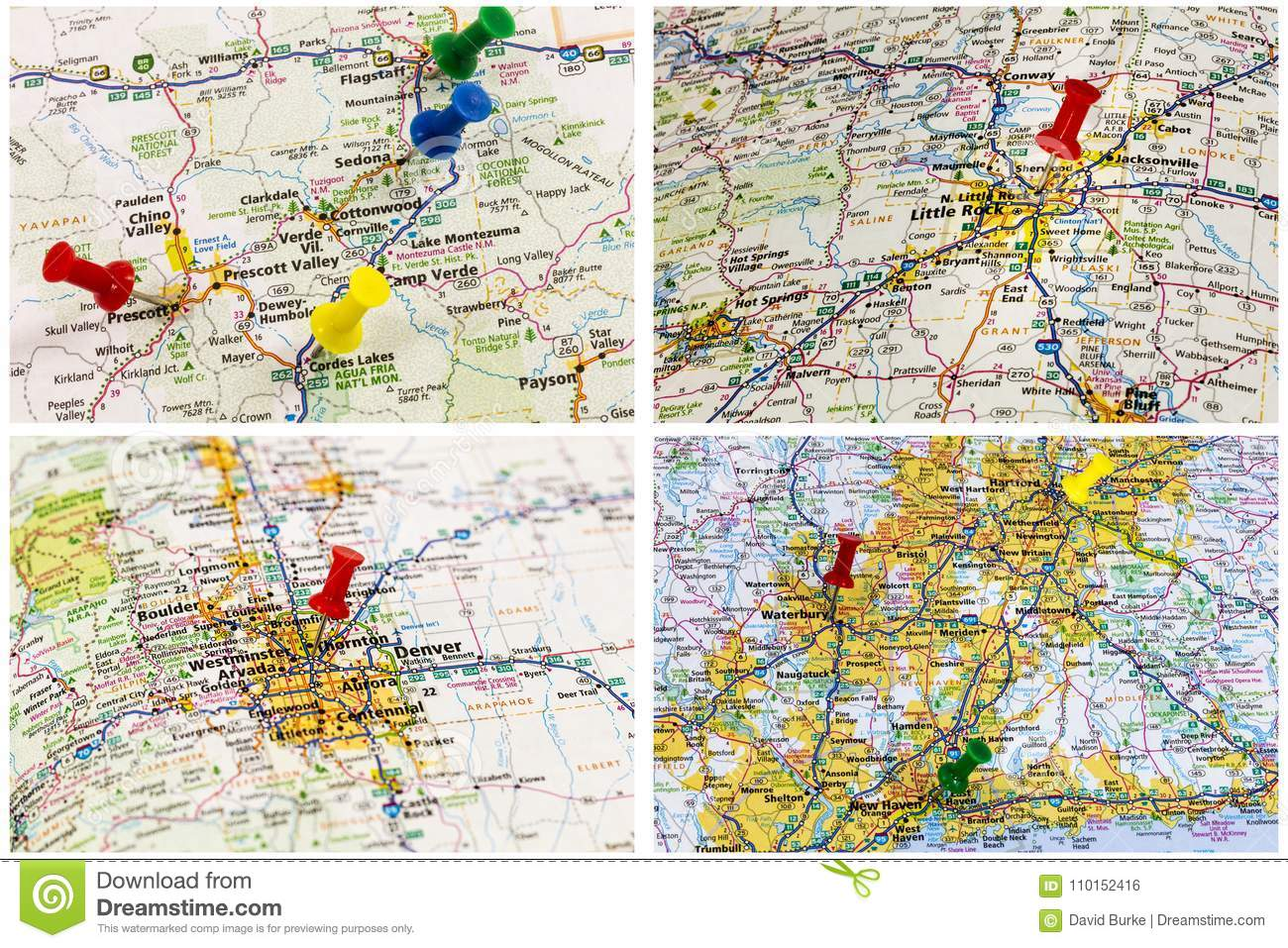 Travel outdoors maps editorial photo. Image of pins - 110152416