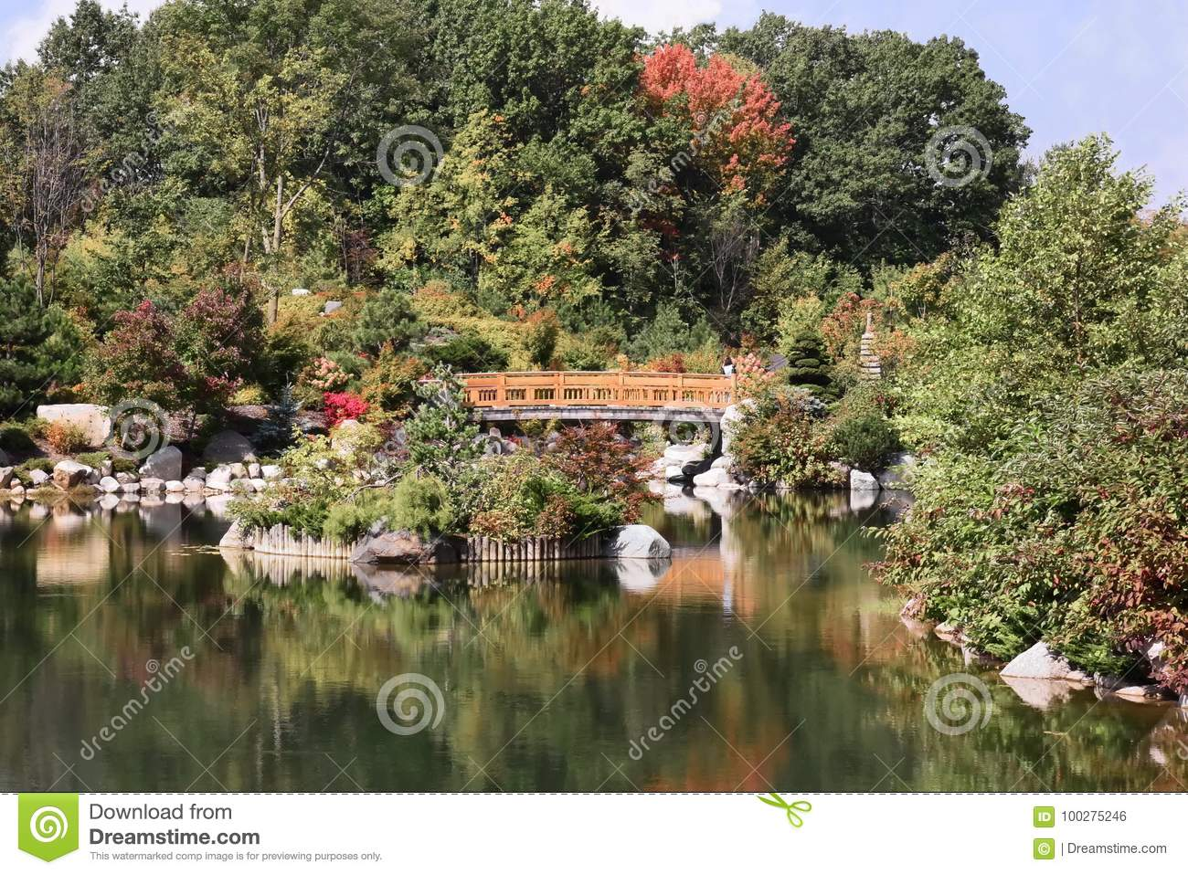America`s Best Japanese Garden! Stock Photo - Image of boulders ...