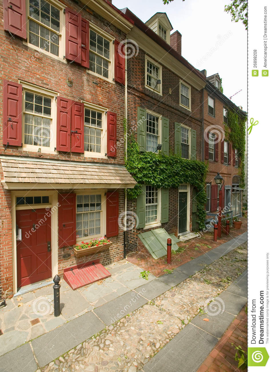 America 39 S Oldest Residential Street Editorial Stock Photo