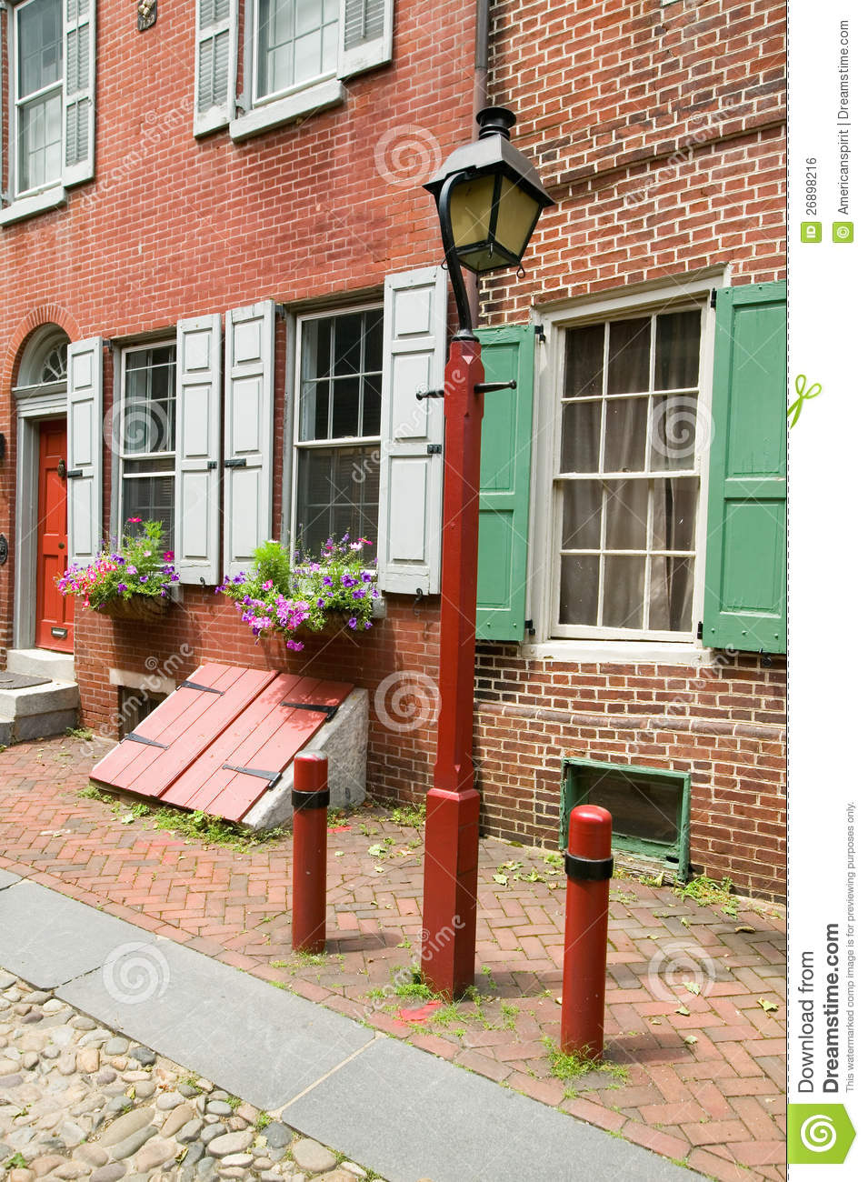 America 39 S Oldest Residential Street Royalty Free Stock