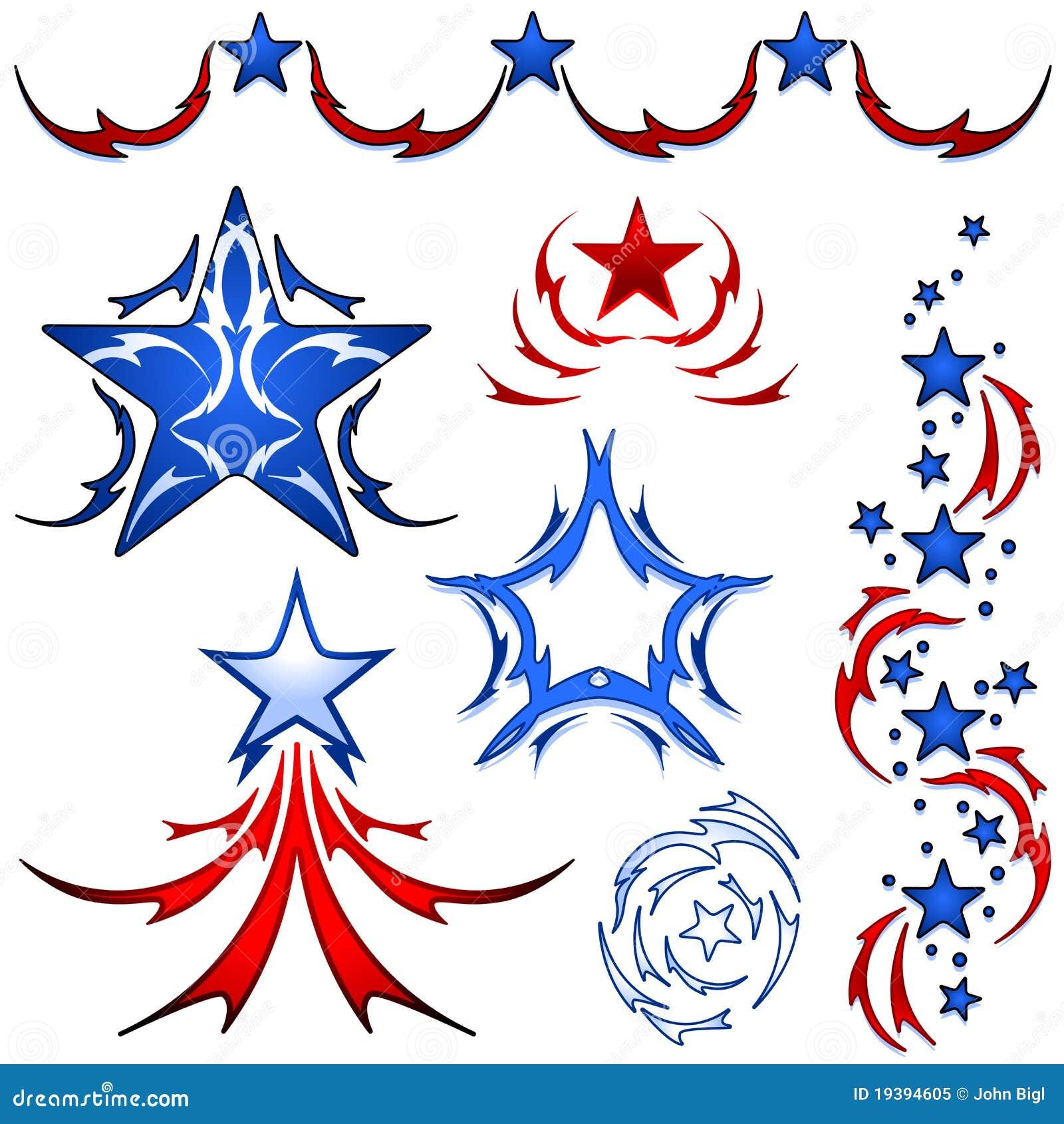 America Tattoo Designs Royalty Free Stock Photo