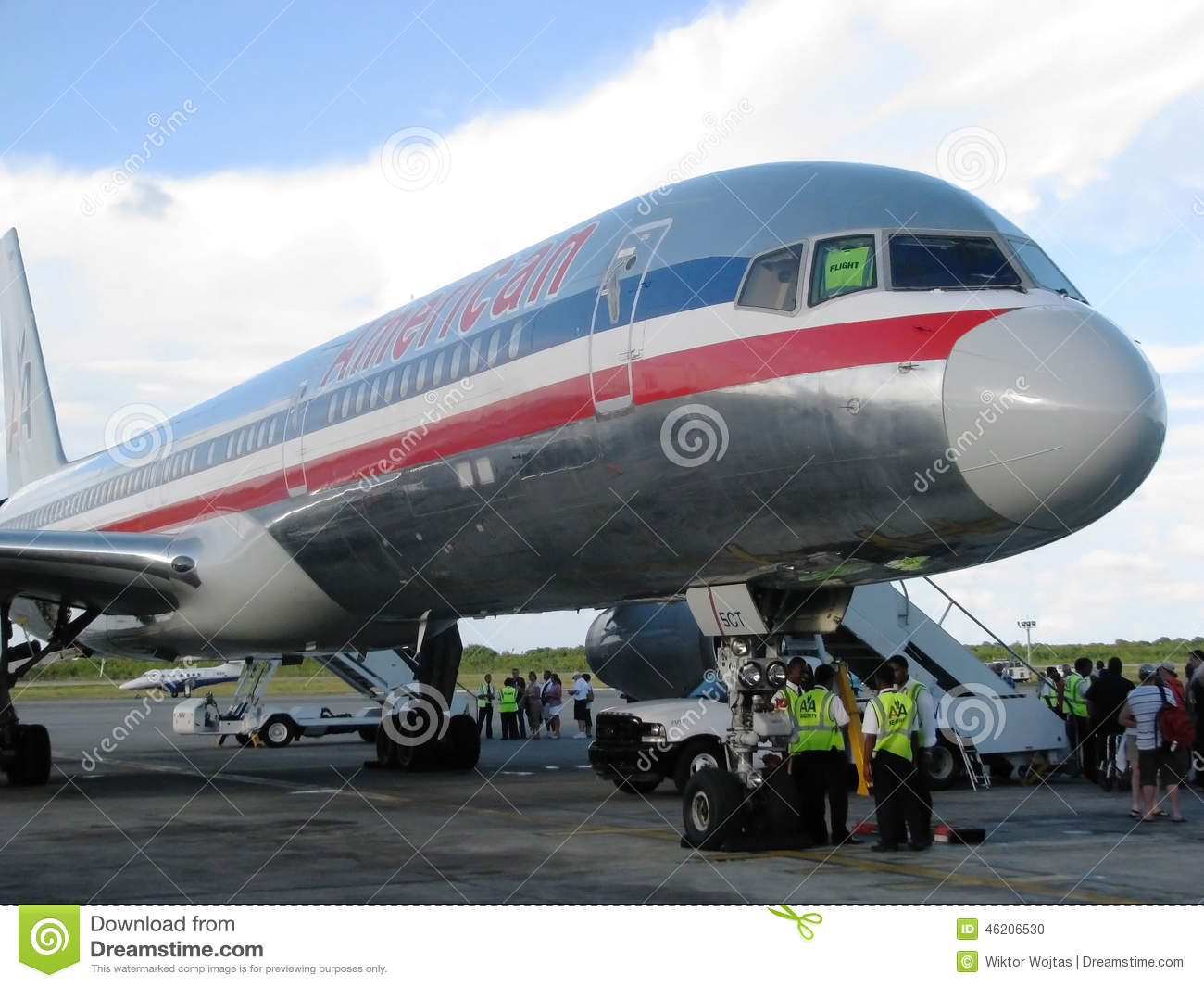 American Airlines Aircraft Editorial Image Image Of