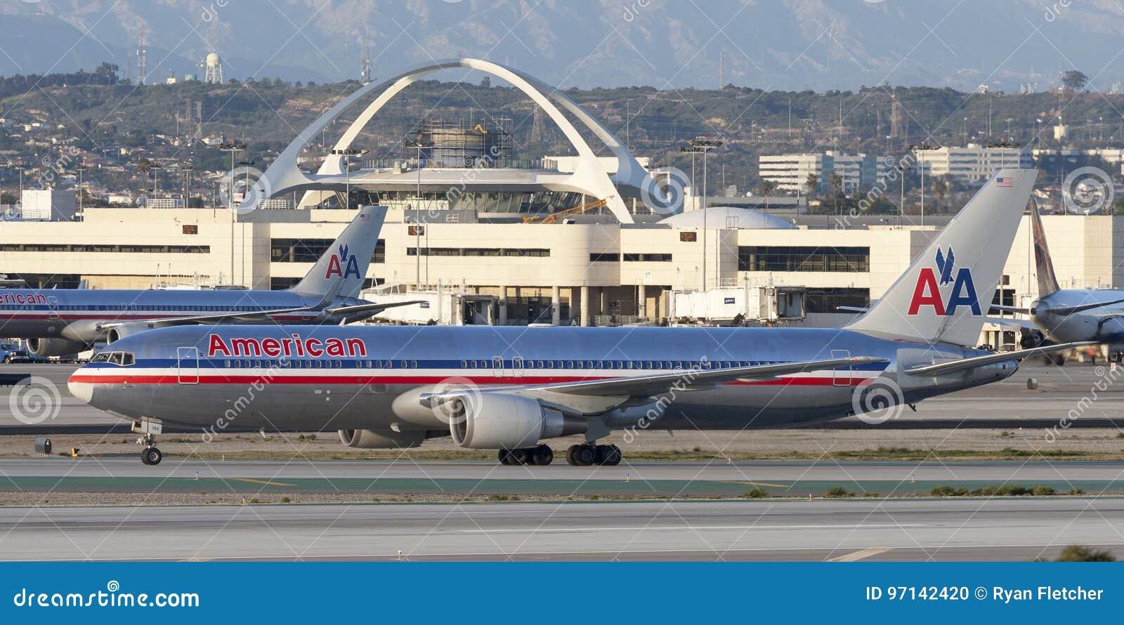 American Airlines Boeing 767 Airliner At Los Angeles International