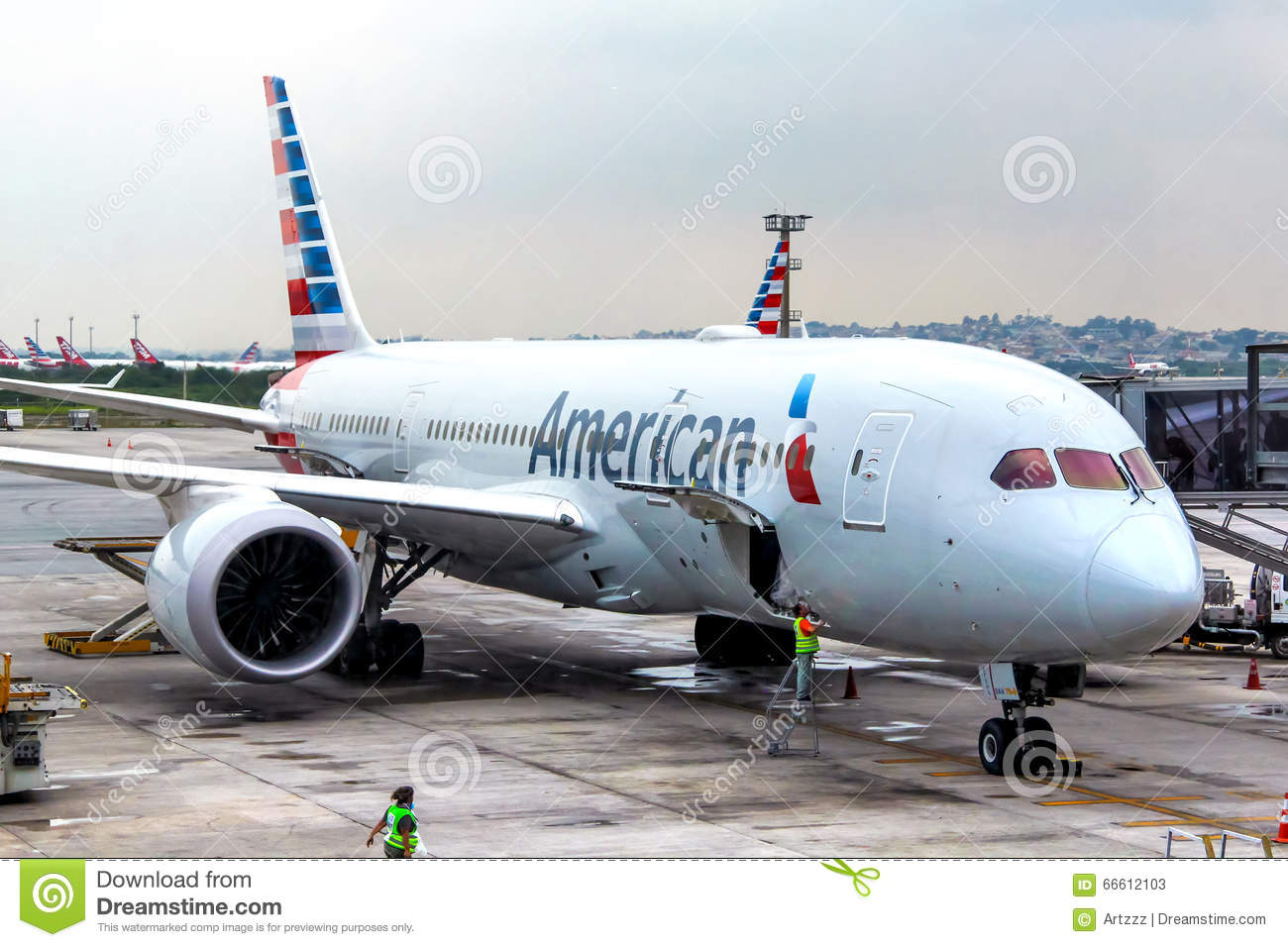 American Airlines Boeing 787-8 Dreamliner Editorial Stock