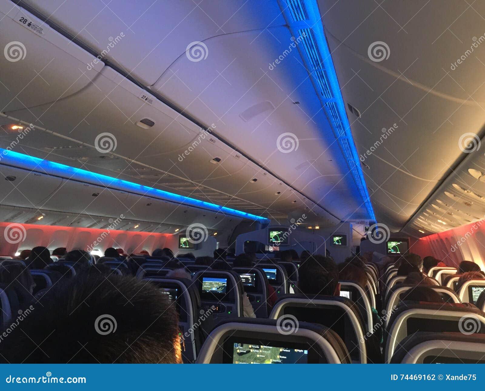 American Airlines Intérieur Photo stock - Image du américain ...