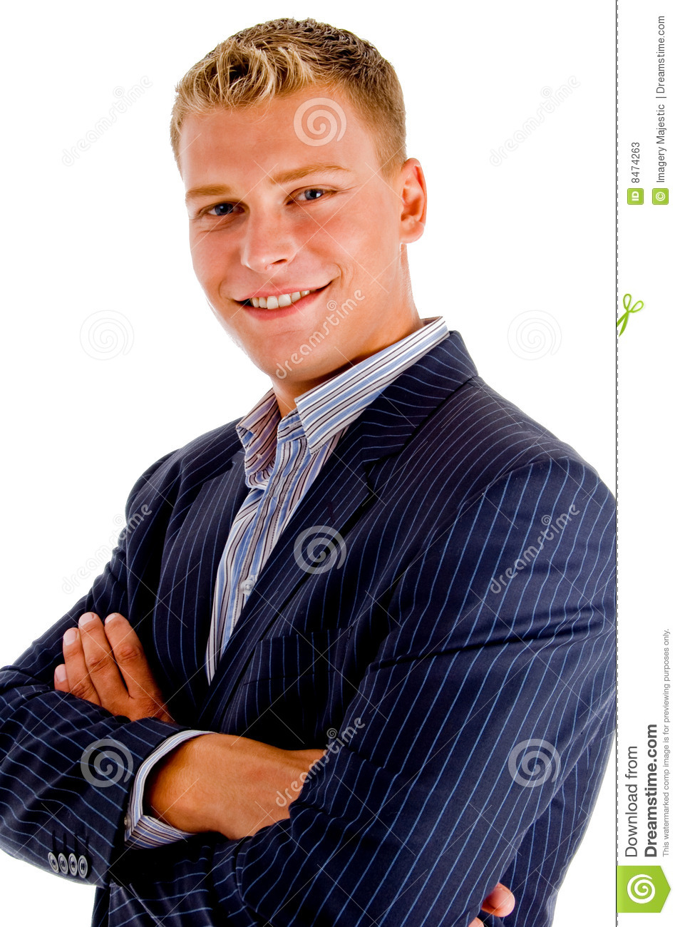 American arms crossed male smiling