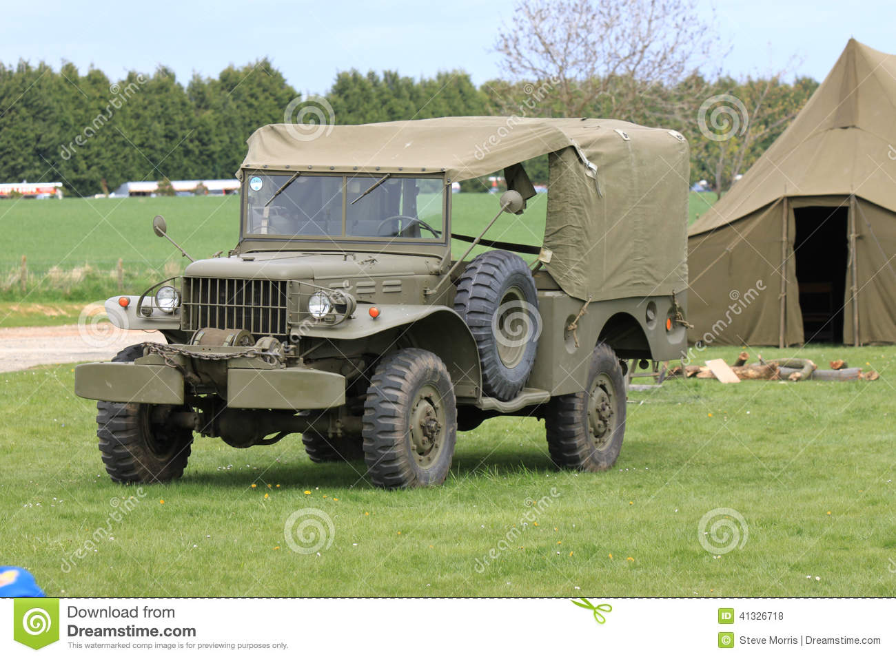 American Army World War 2 Jeep Stock Photo - Image of