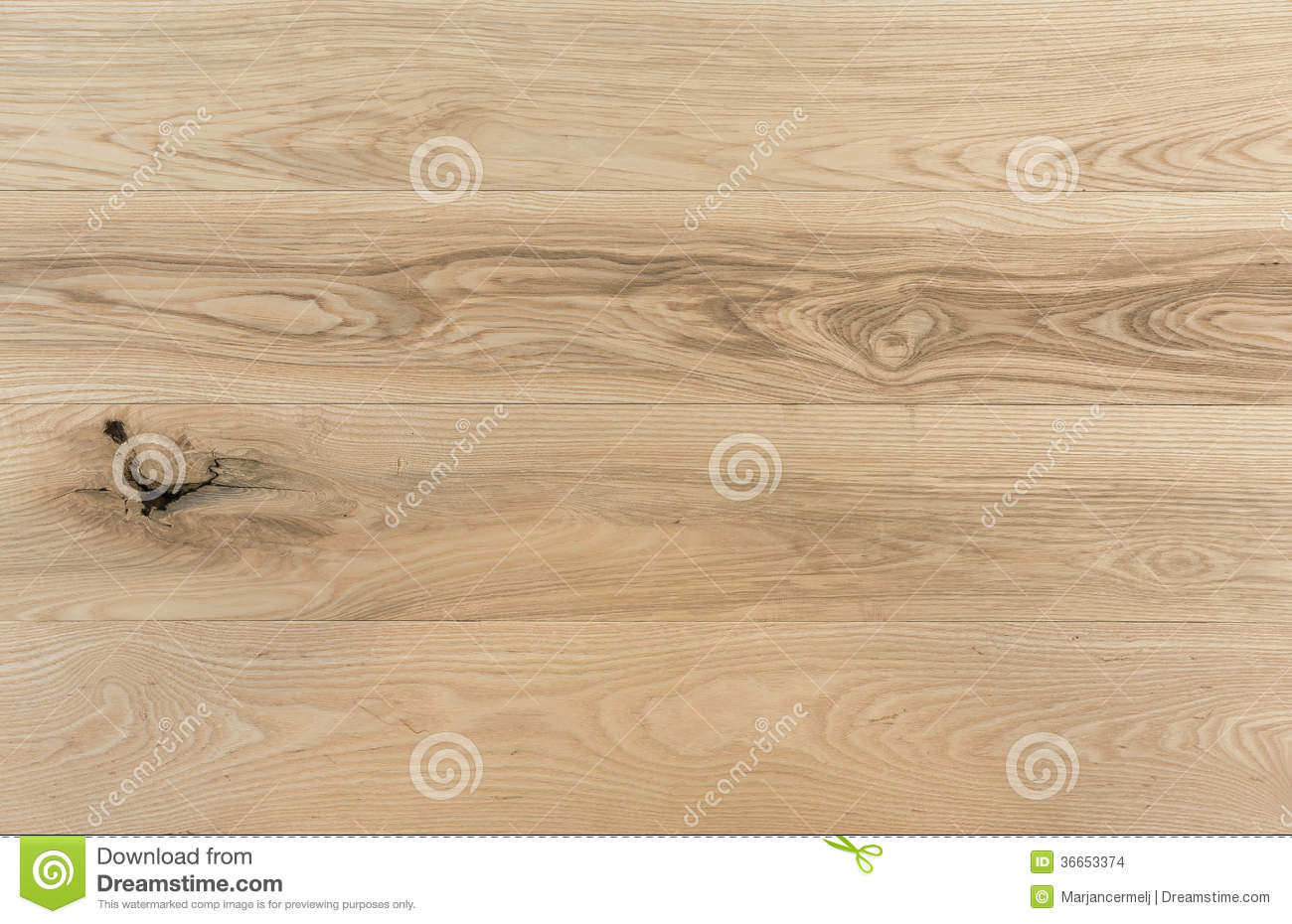 American ash wooden boards with unsound knot stock images