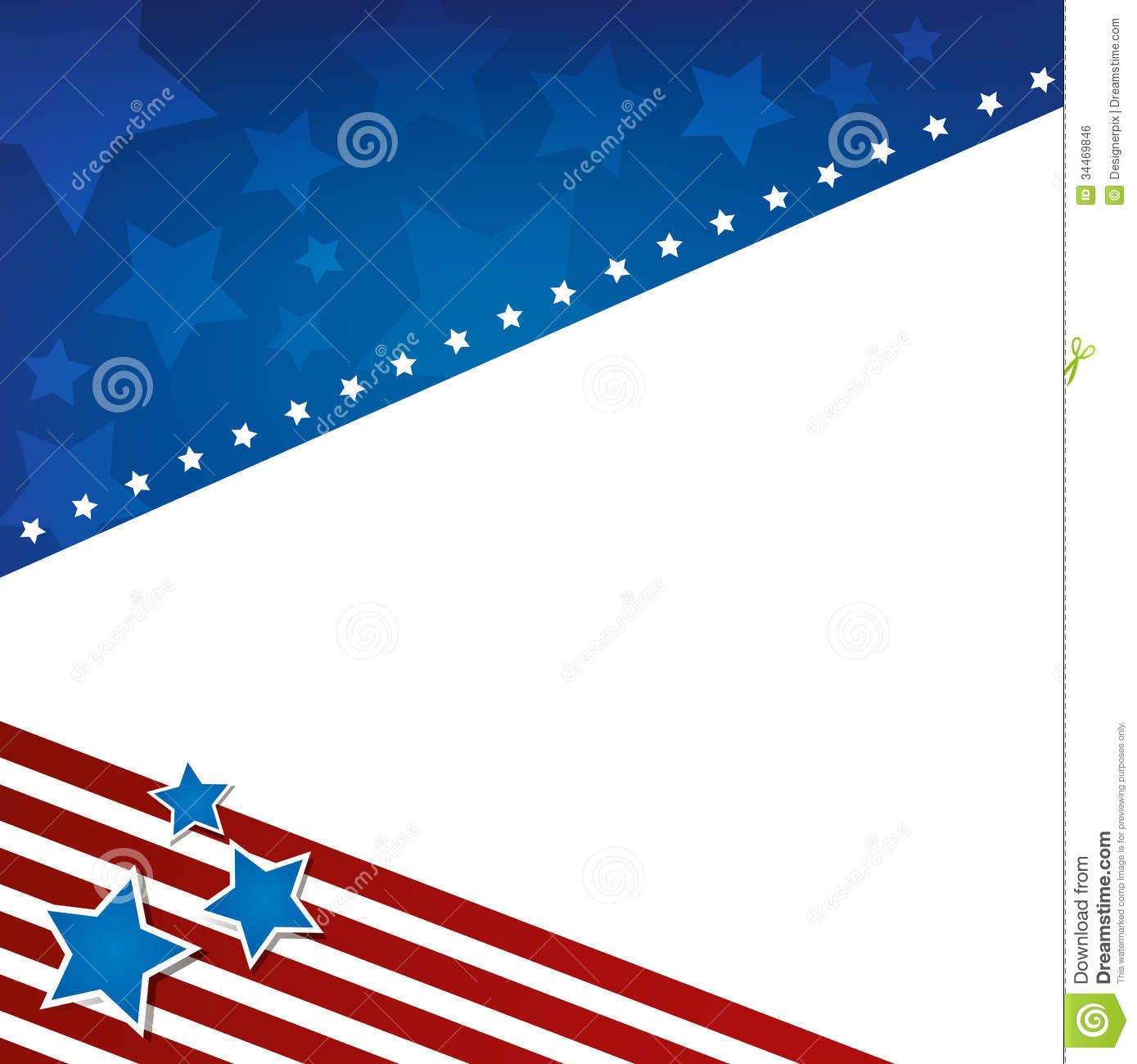 An American themed background design. Ideal for campaign or 4th of ...