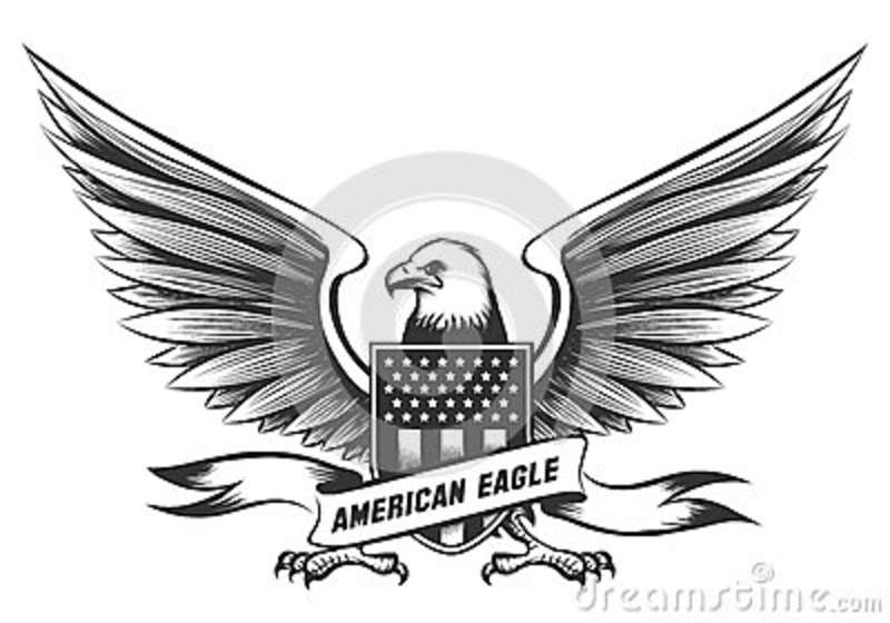 American Bald Eagle Emblem Stock Vector Illustration Of Patriot