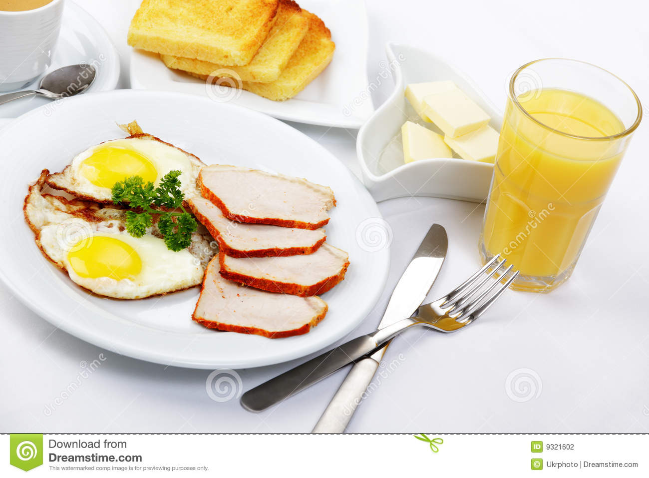 American Breakfast Stock Photography - Image: 9321602