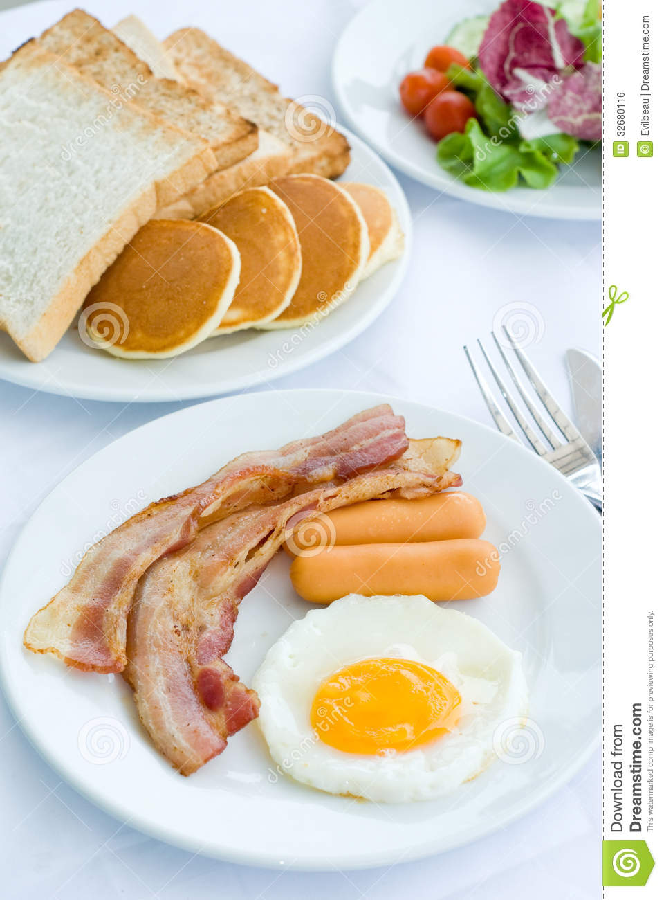 American Breakfast Royalty Free Stock Image Image 32680116
