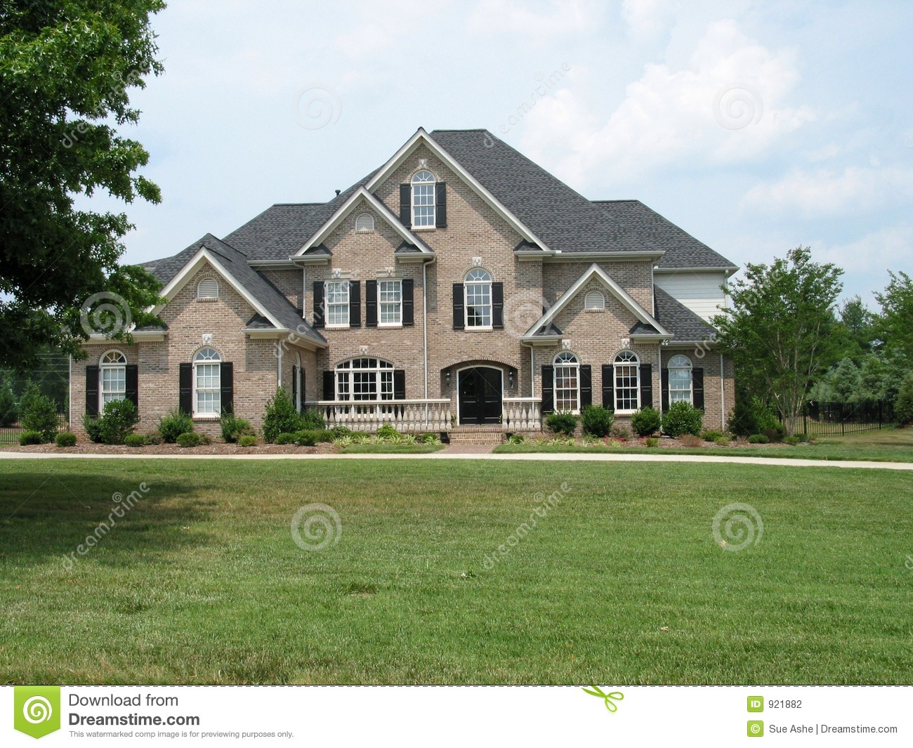 American Brick House Stock Photo Image Of Manor American