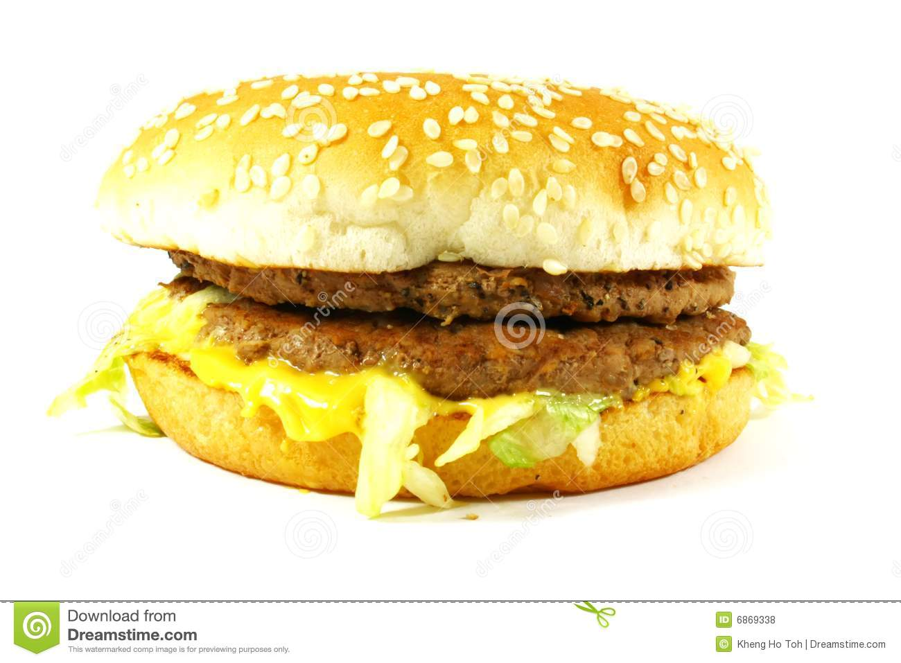 American Cheeseburger Royalty Free Stock Photos - Image: 6869338