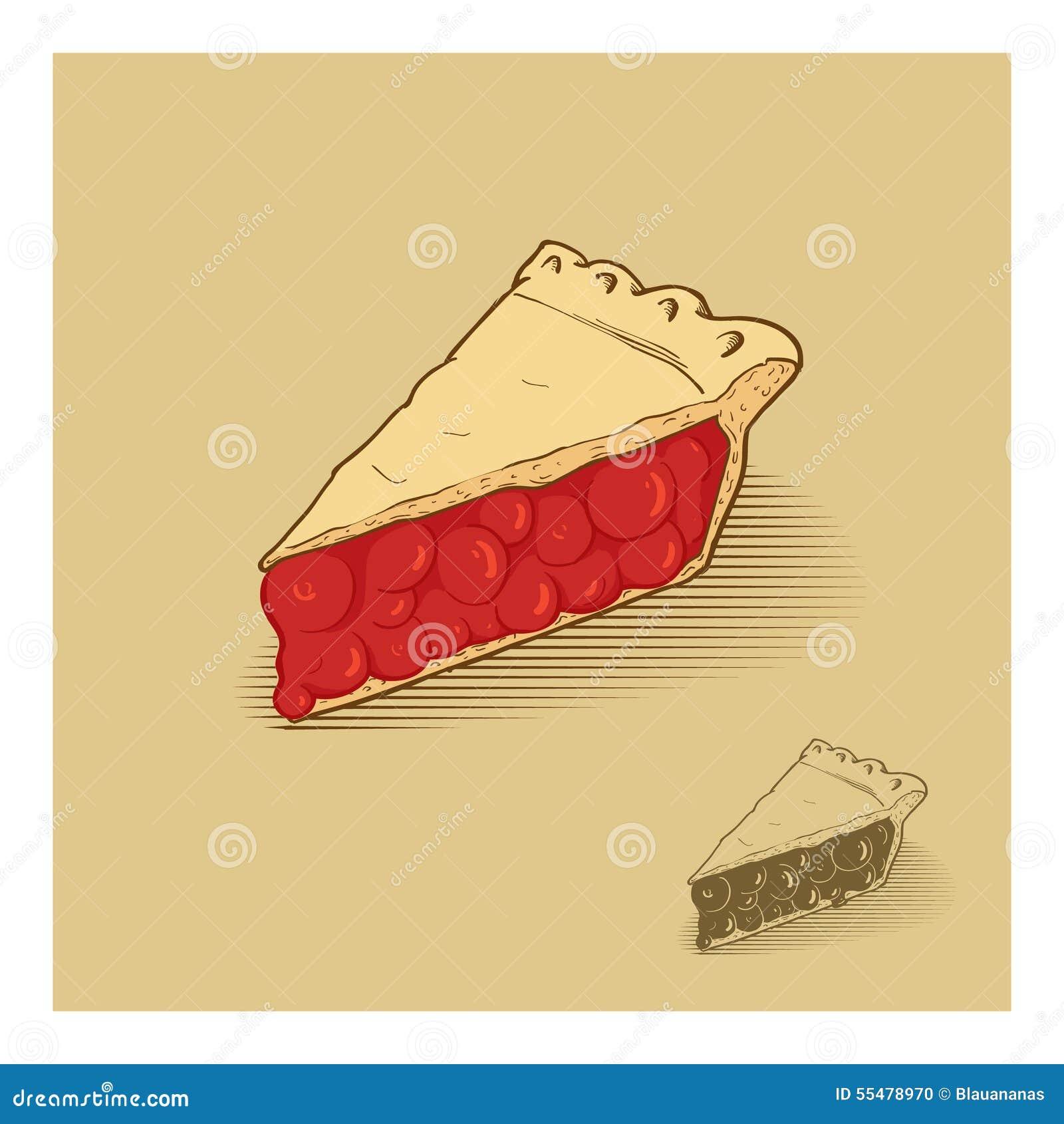 American Cherry Pie Stock Vector - Image: 55478970