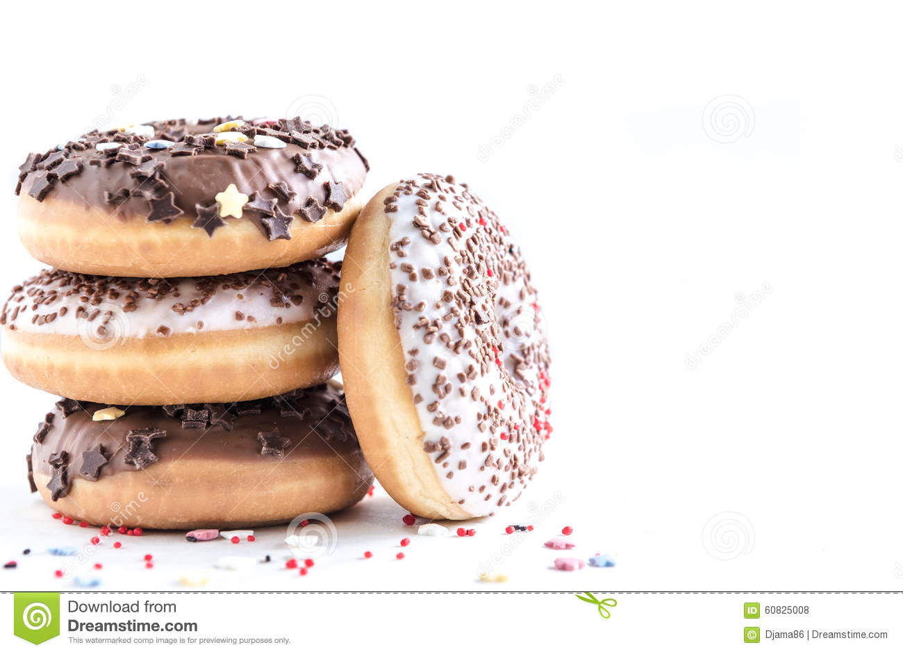 American chocolate donuts