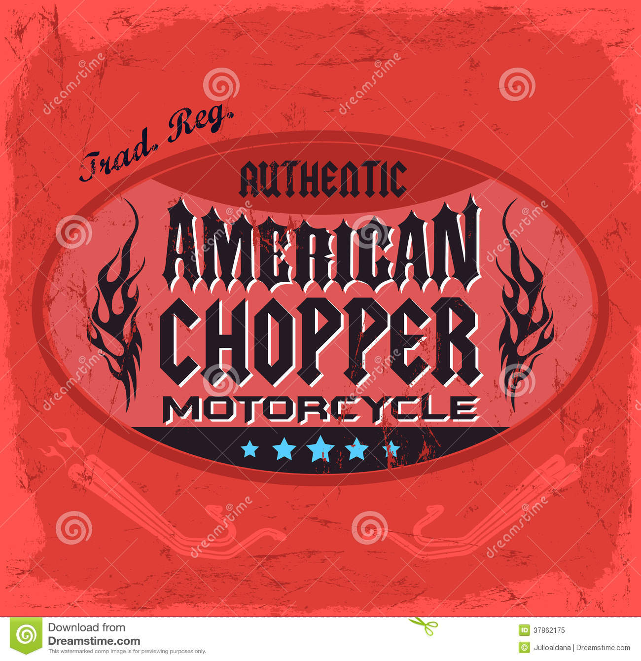 0a2c1c9f37f American Chopper Motorcycle badge - vintage design - t shirt print design -  eps